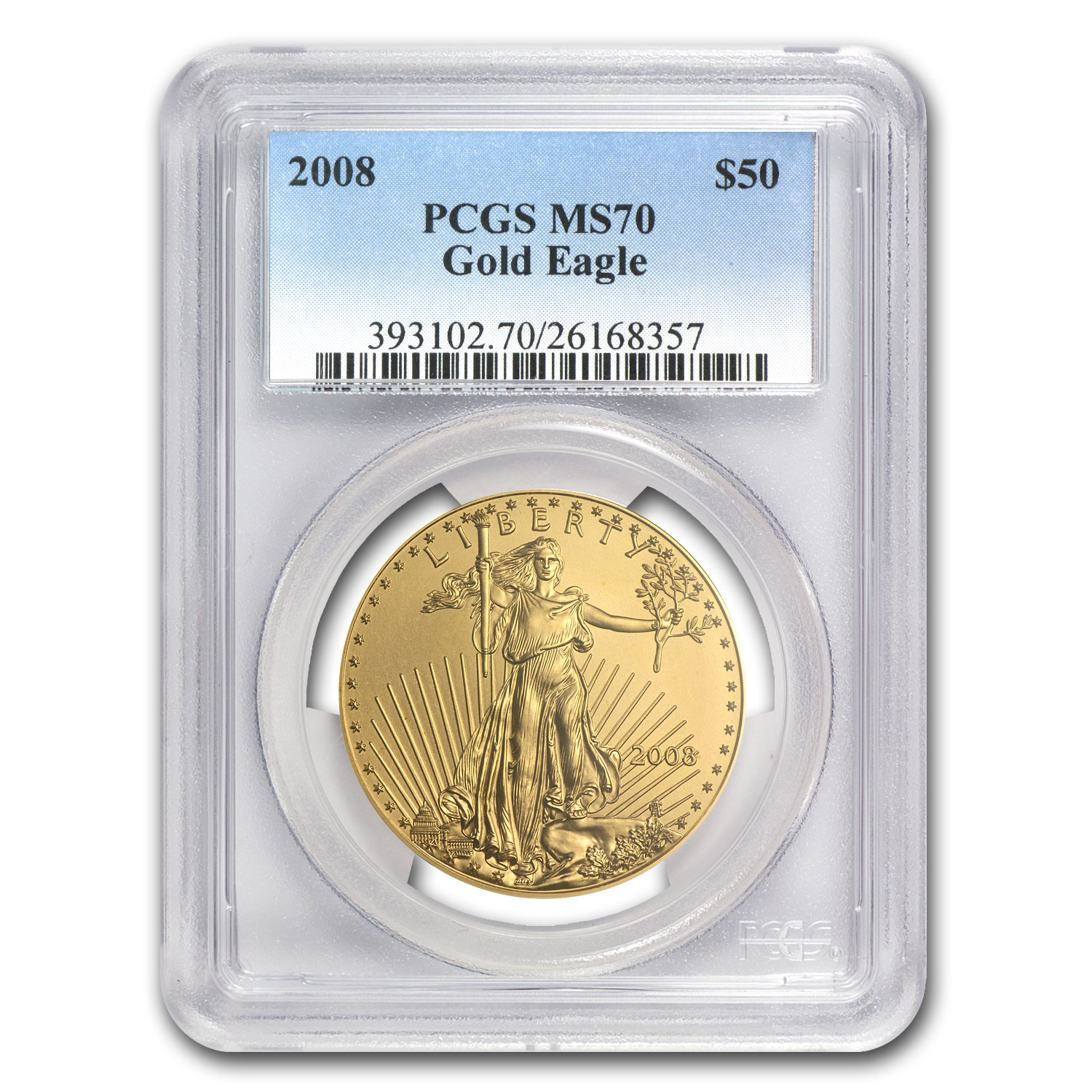 2008 1 oz Gold American Eagle MS-70 PCGS