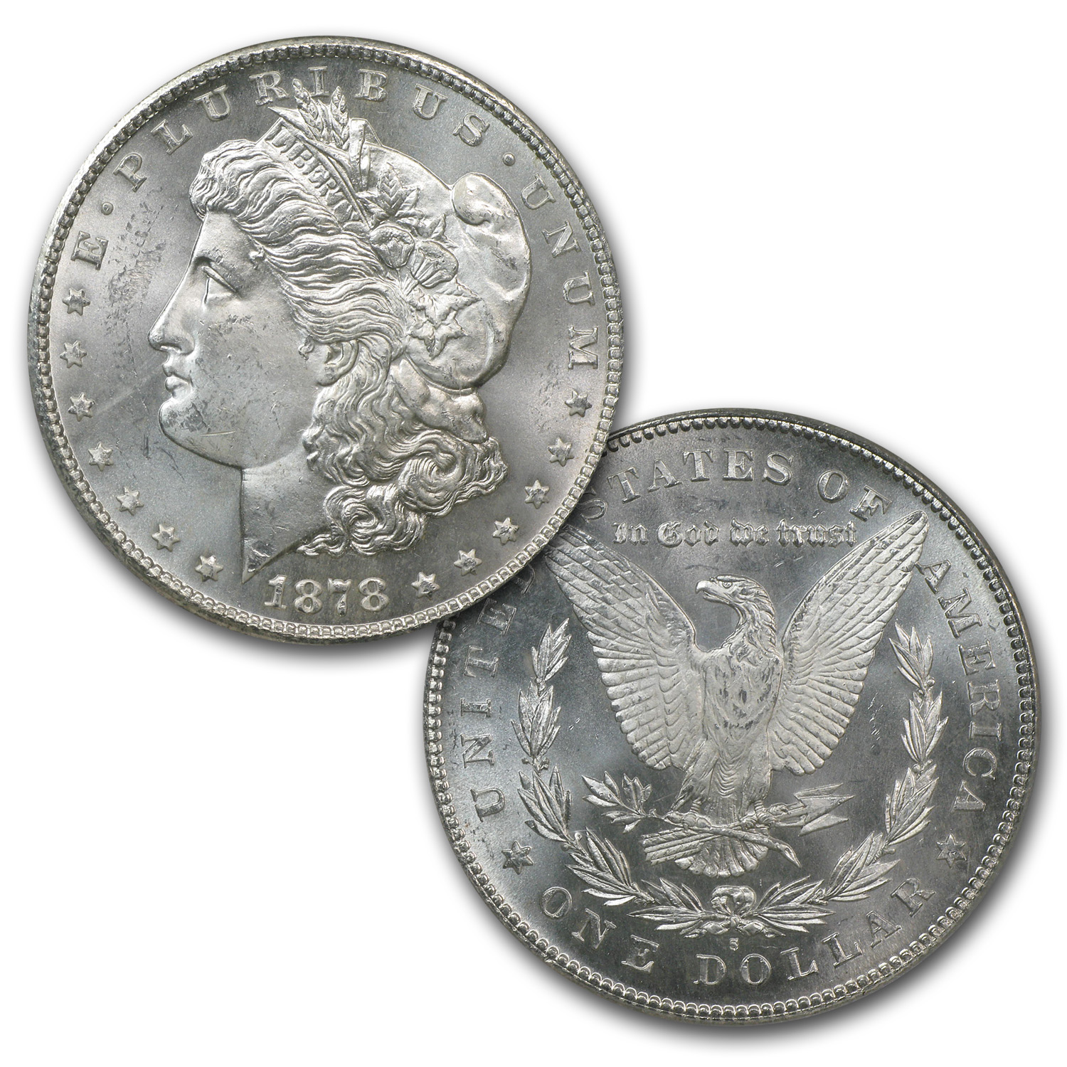 First and Last Year Morgan Silver Dollar Set NGC MS-64