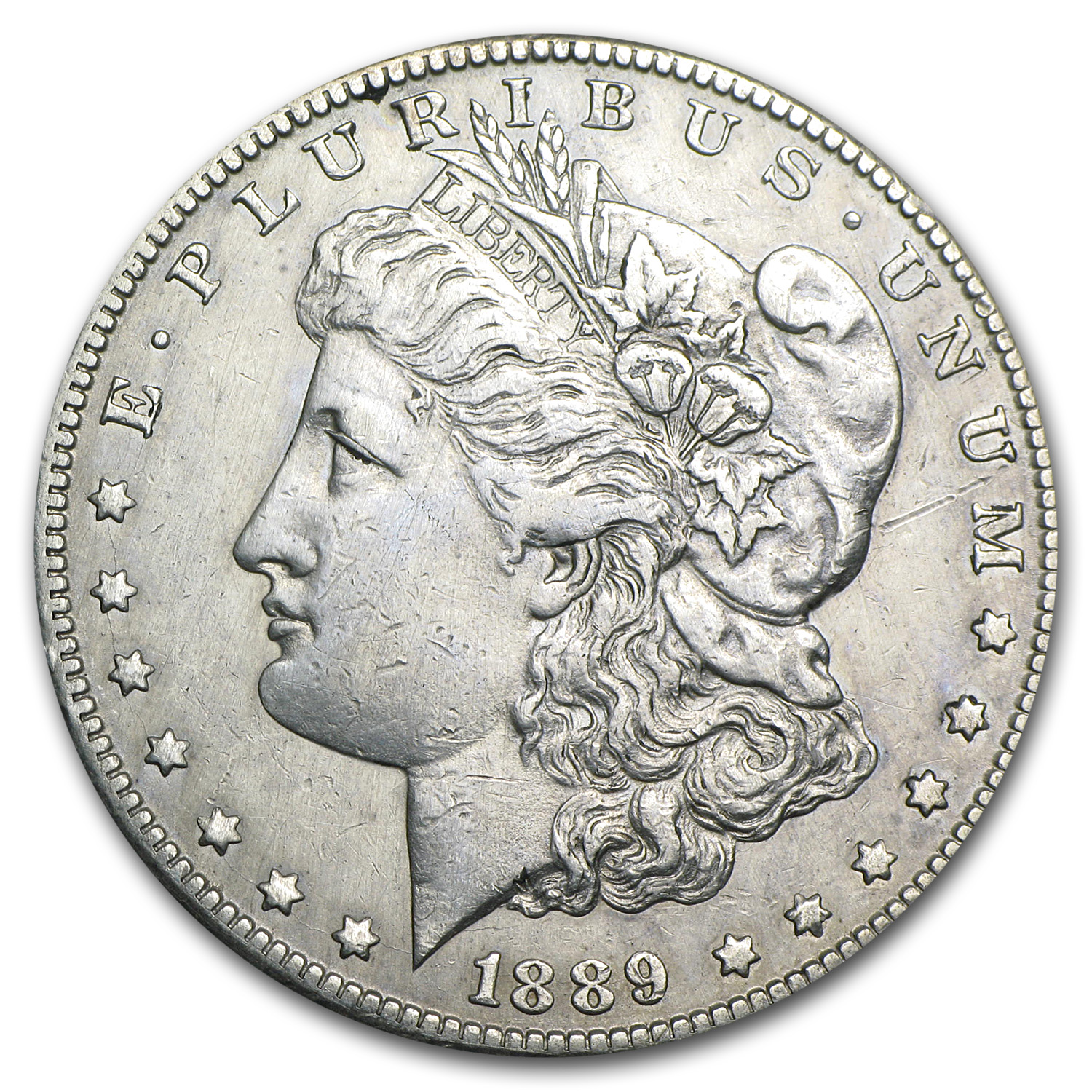 1889-CC Morgan Dollar AU Details (Cleaned)