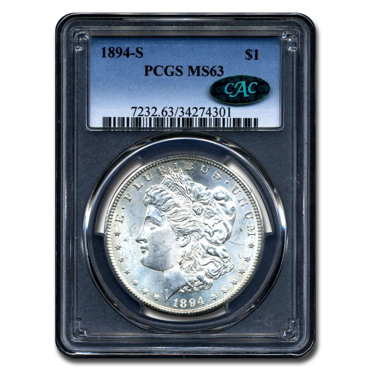 1894-S Morgan Dollar MS-63 PCGS (CAC)