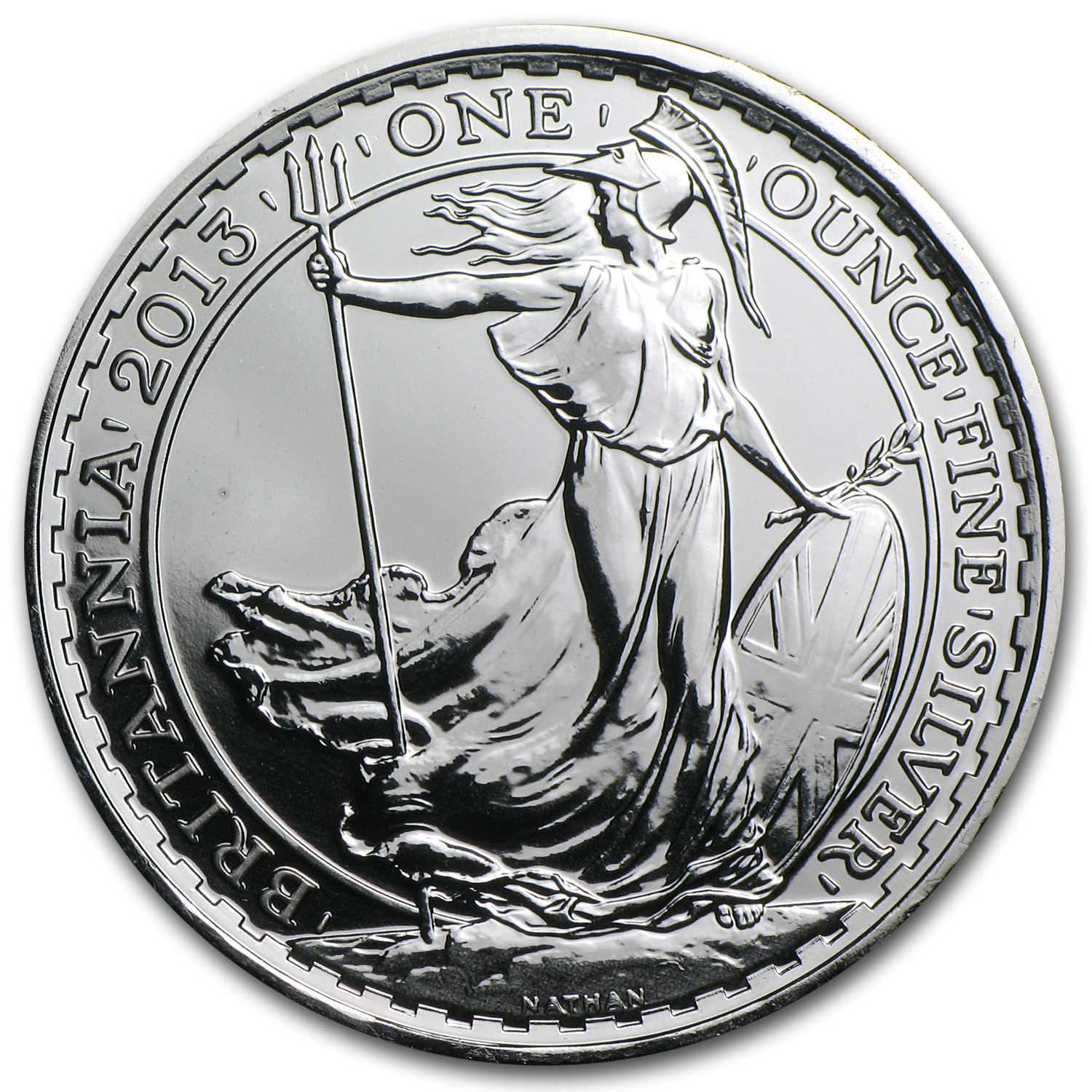 2013 1 oz Silver Britannia BU (w/Year of the Snake Privy Mark)