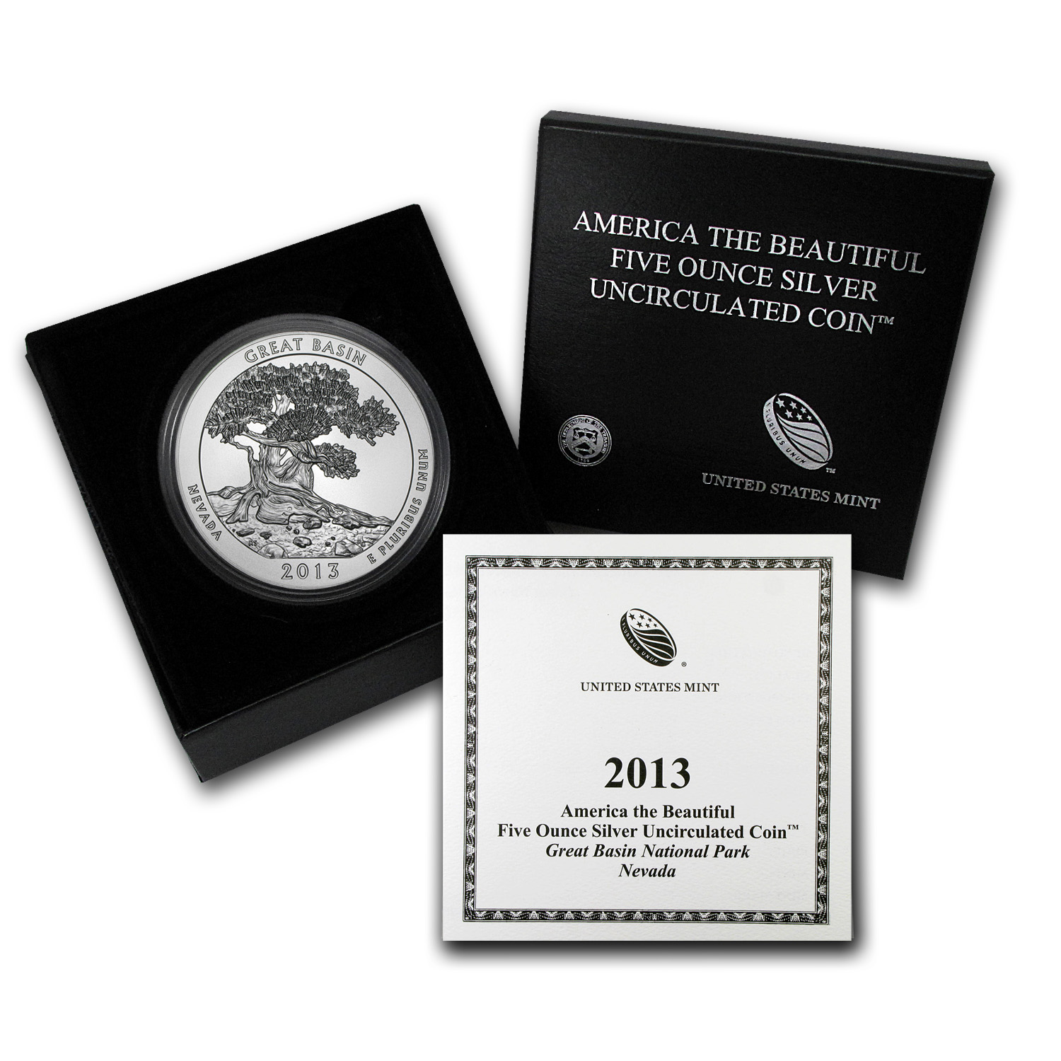 2013-P 5 oz Silver ATB Great Basin (w/Box & COA)