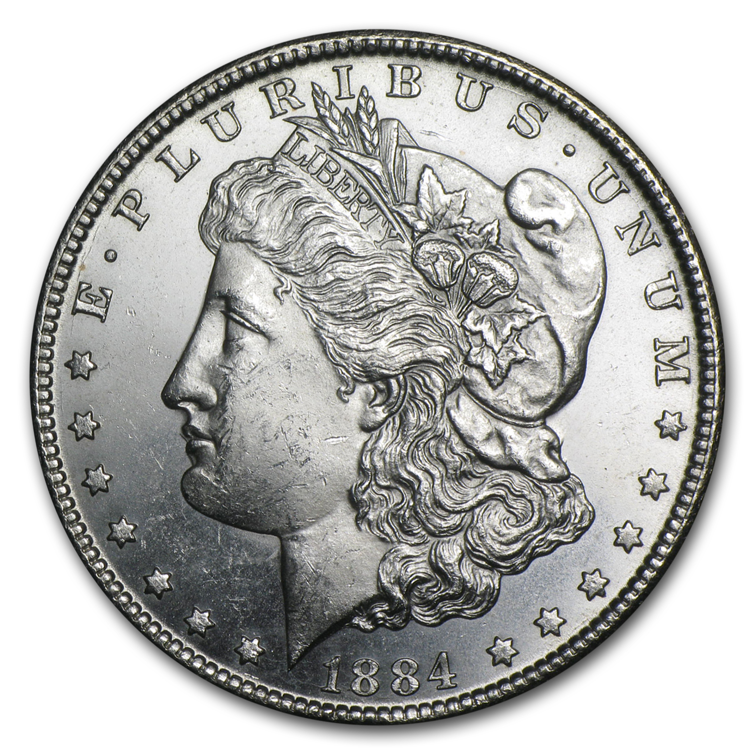 1884-CC Morgan Dollar BU