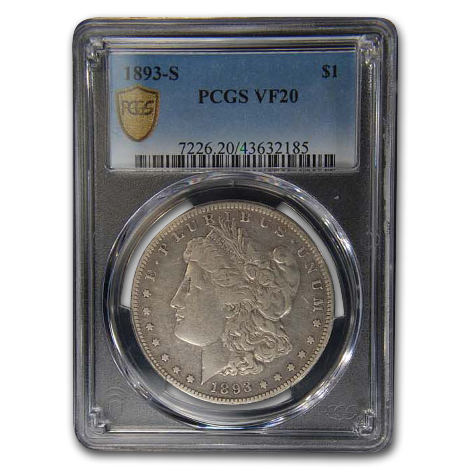 1893-S Morgan Dollar VF-20 PCGS