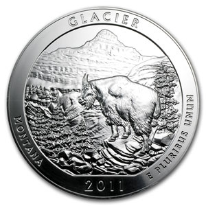 2011 5 oz Silver ATB Glacier, MT (Sealed Monster Box)