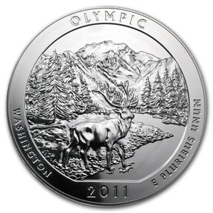 2011 5 oz Silver ATB Olympic, WA (Sealed Monster Box)