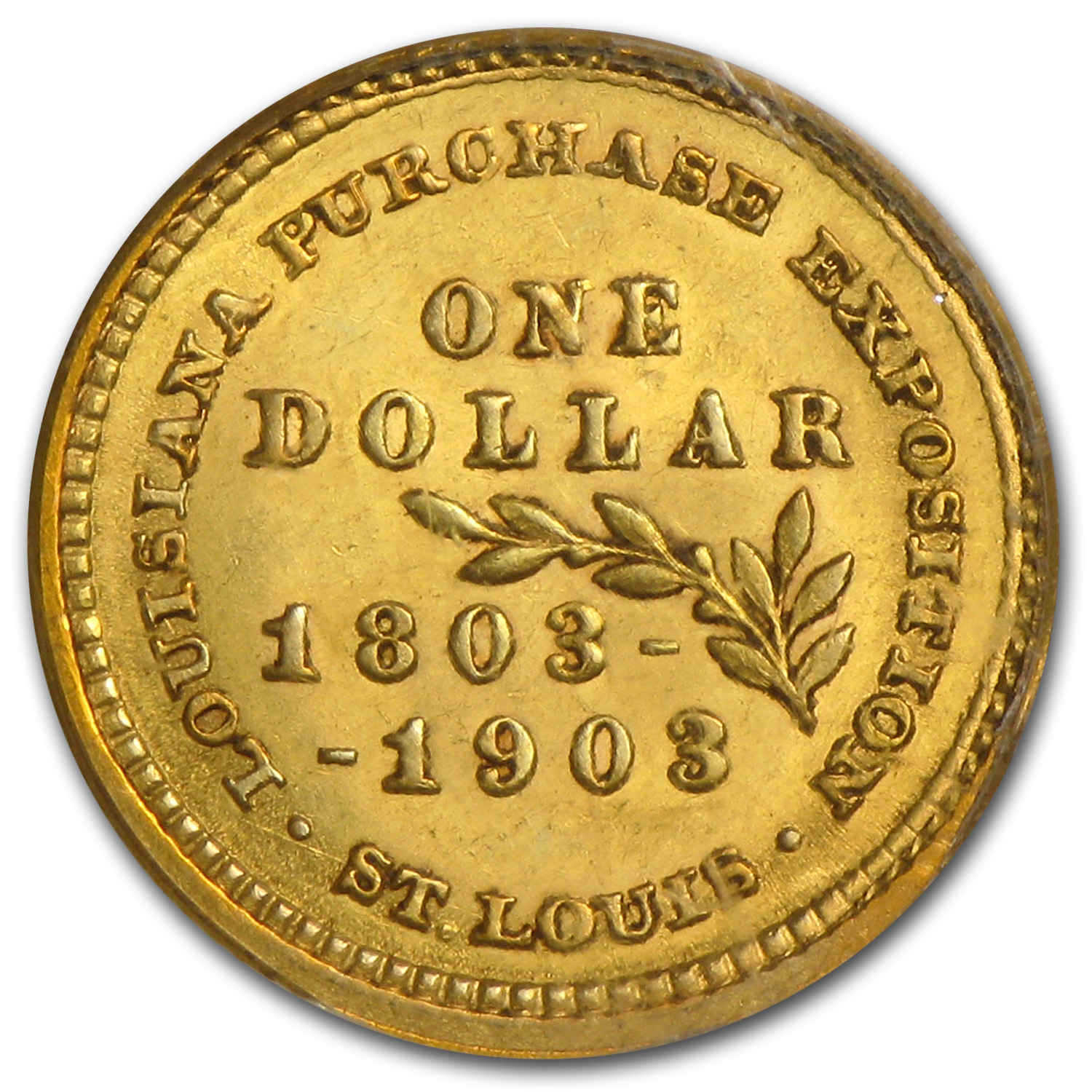 1903 $1.00 Gold Louisiana Purchase Jefferson AU-55 PCGS