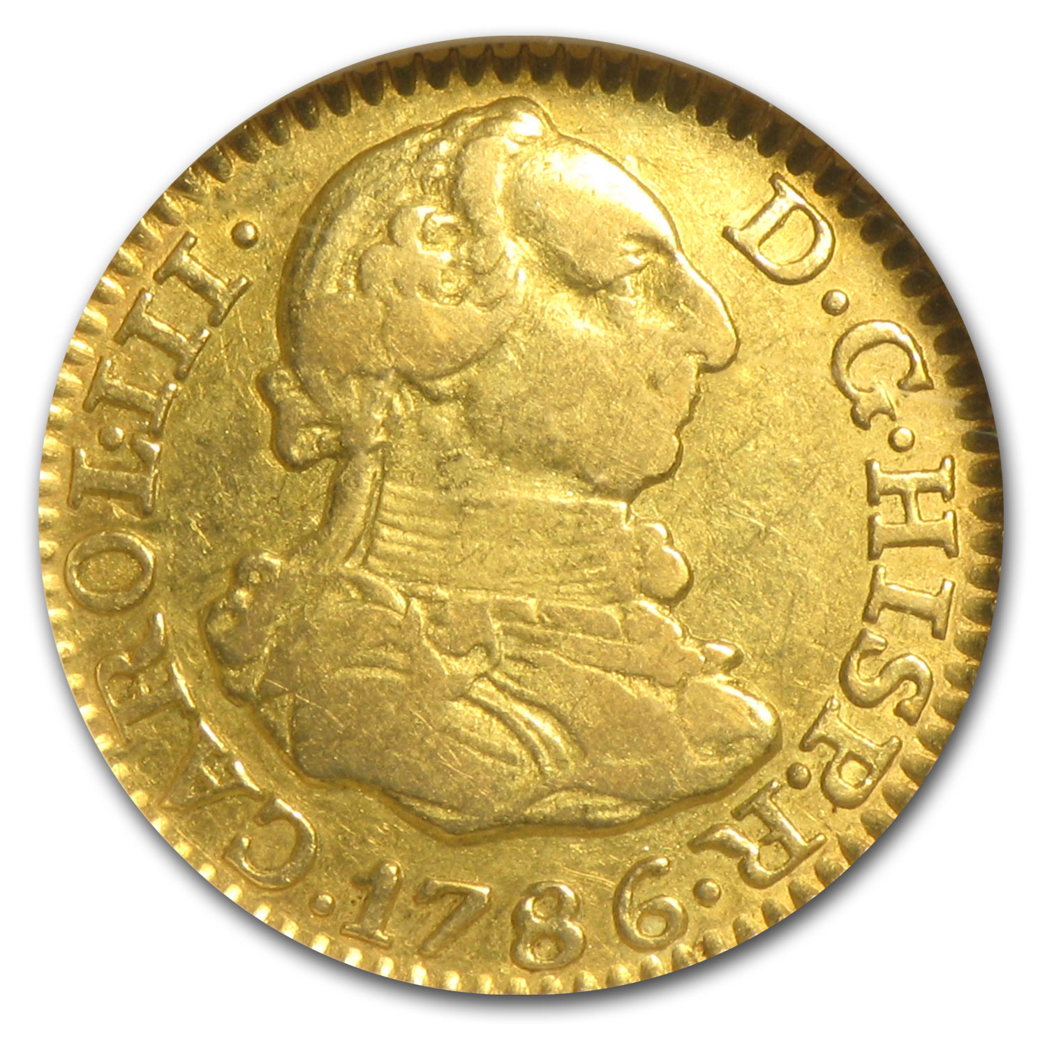 Spain 1786 DV 1/2 Escudo Gold NGC XF-45