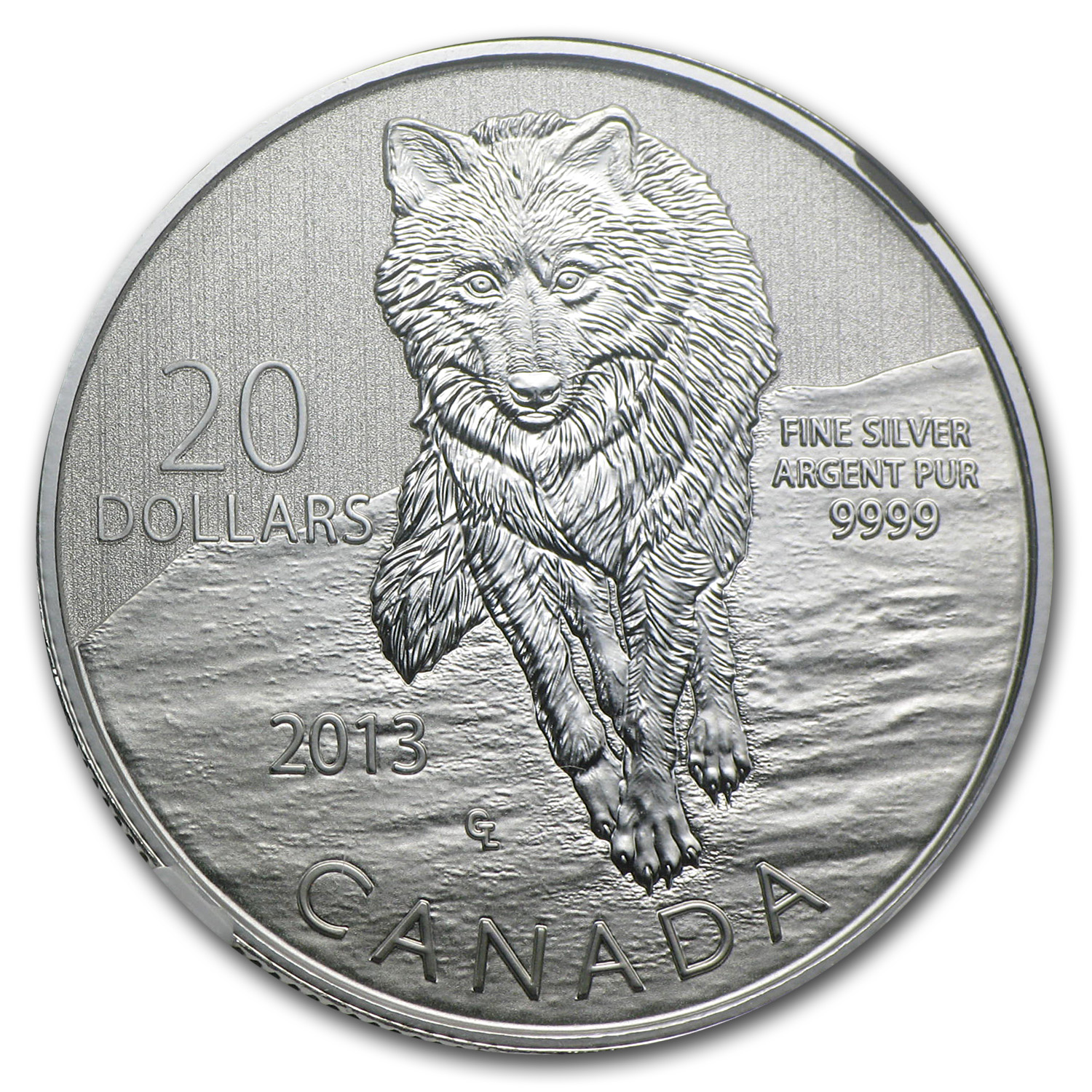 2013 1/4 oz Silver Canadian $20 Wolf - SP-69 NGC