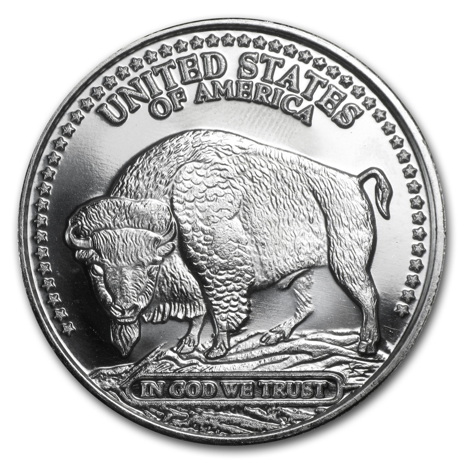 1 oz Silver Rounds - Running Antelope/Bison