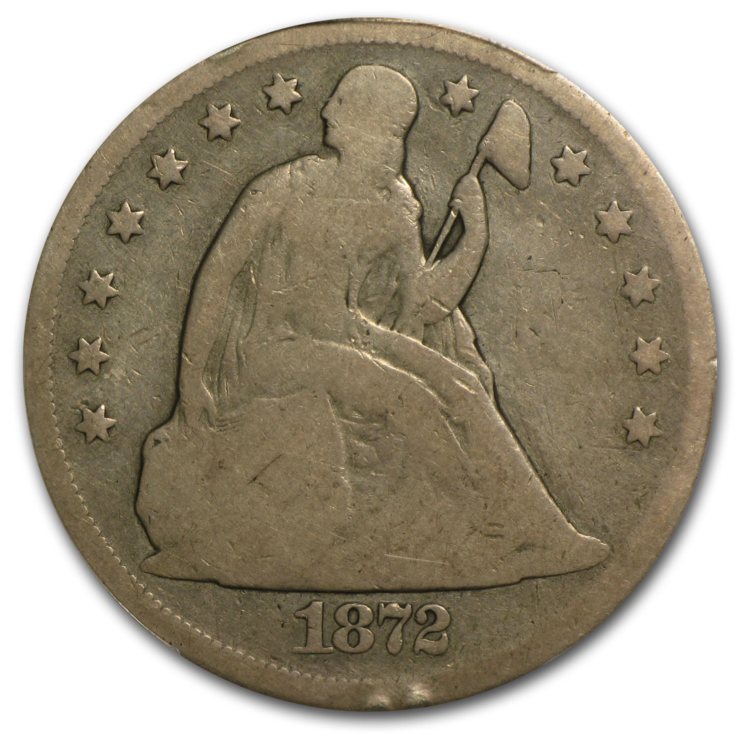 1872-CC Liberty Seated Dollar Good-4 PCGS