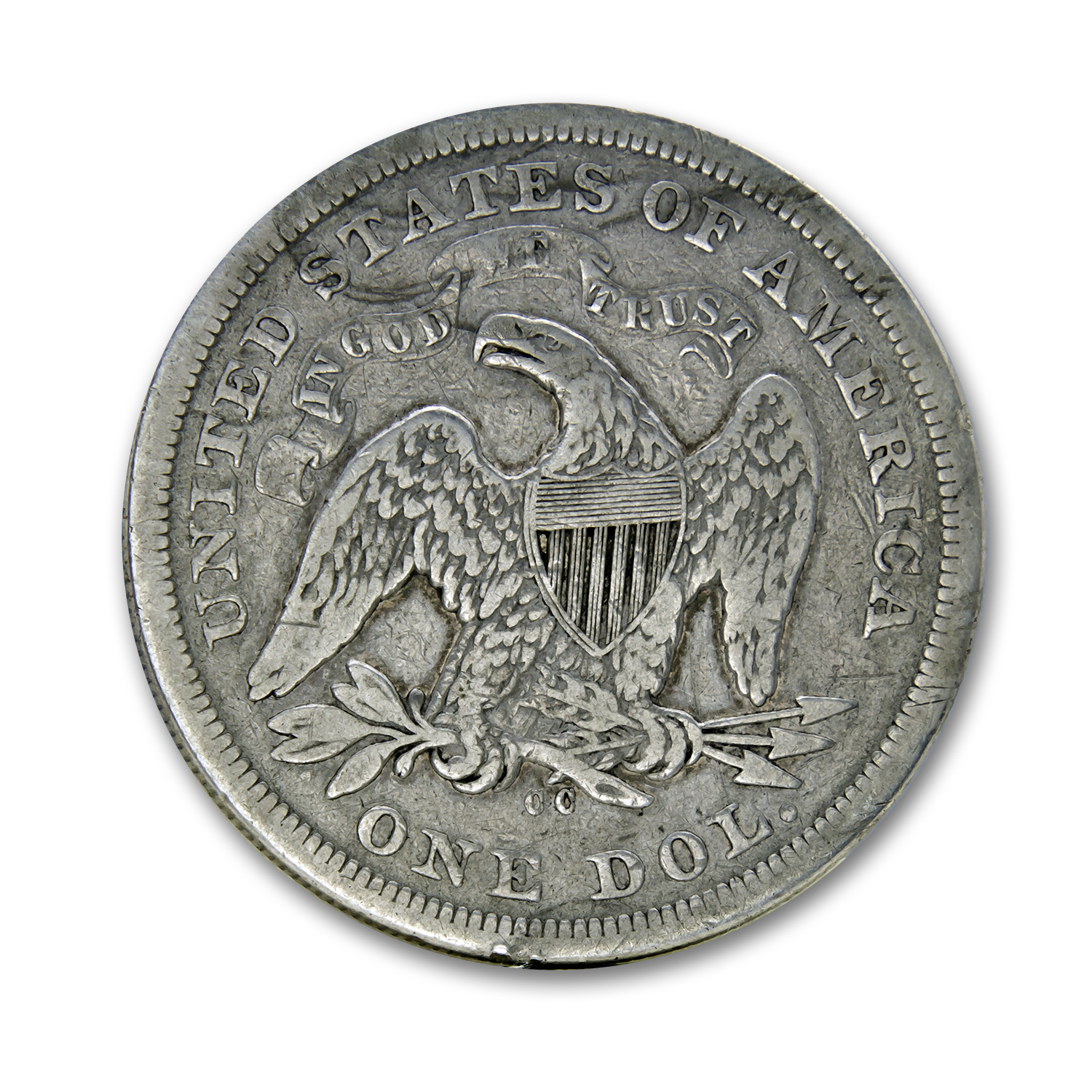 1870-CC Liberty Seated Dollar VG