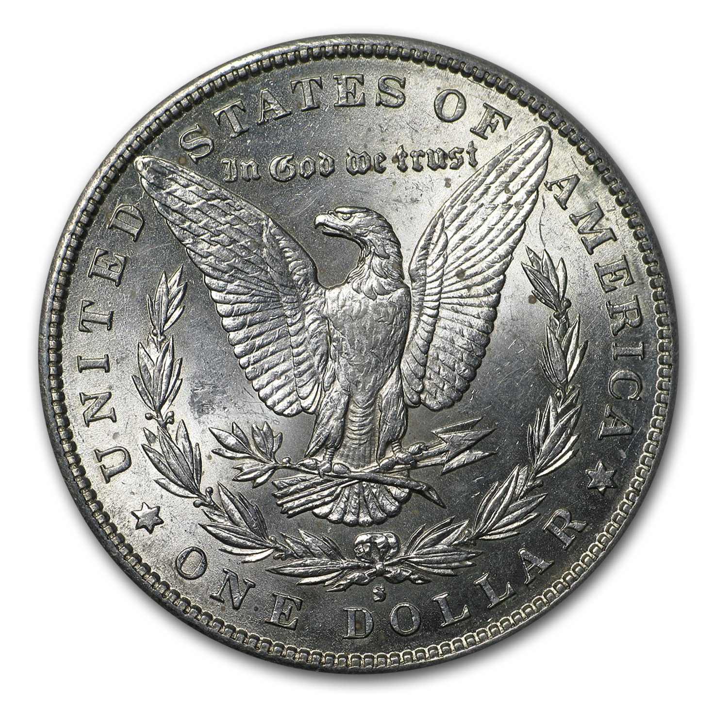 1890-S Morgan Dollar AU-58