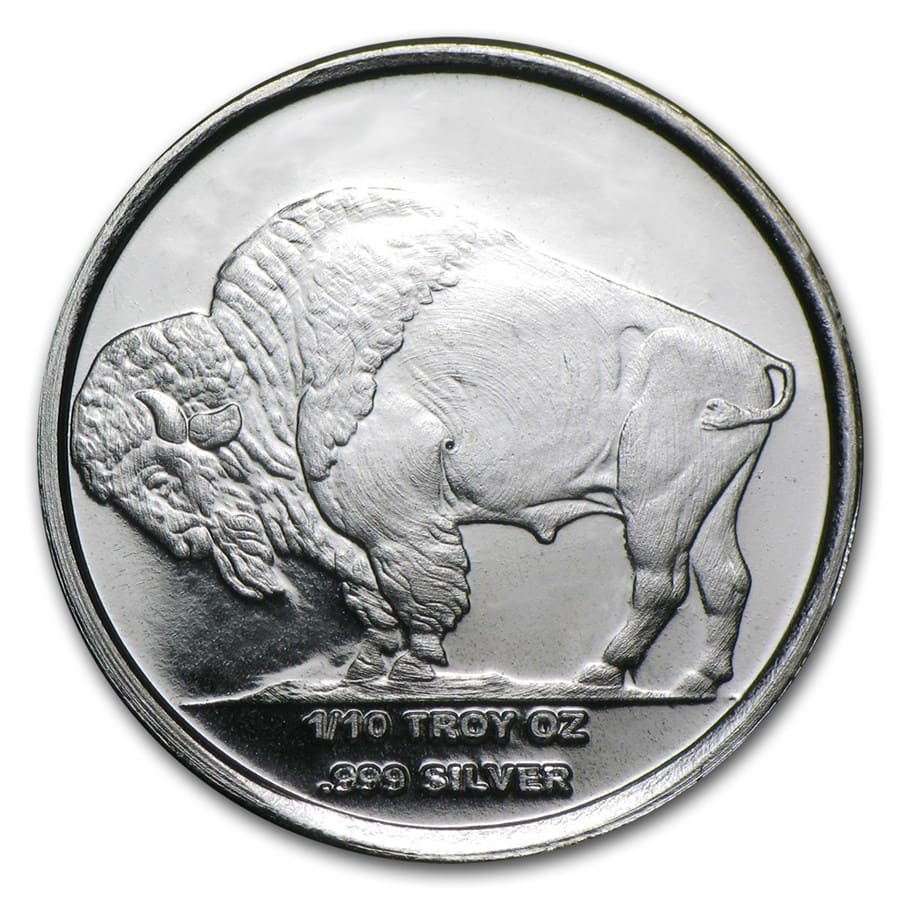 1/10 oz Silver Rounds - Buffalo