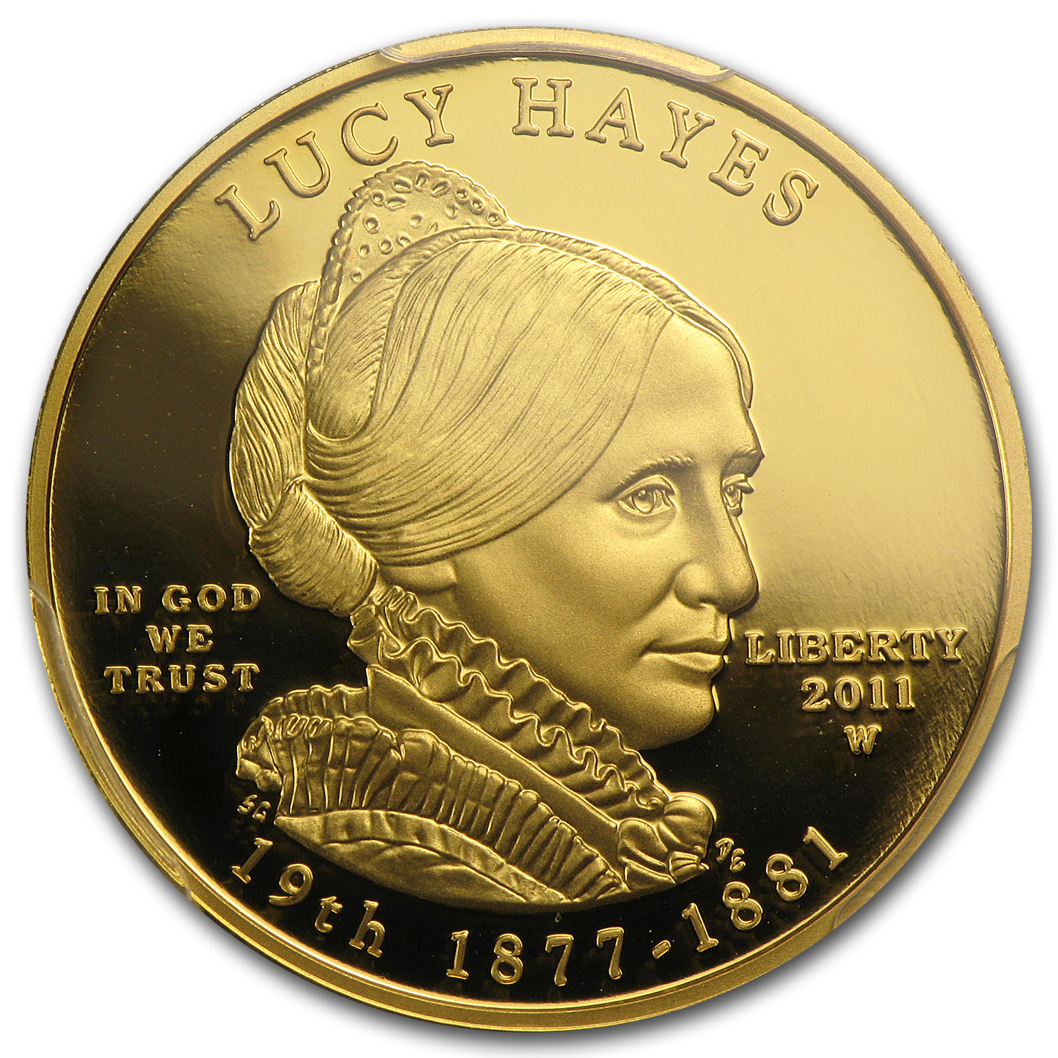 2011-W 1/2 oz Proof Gold Lucy Hayes PCGS PR-69 DCAM