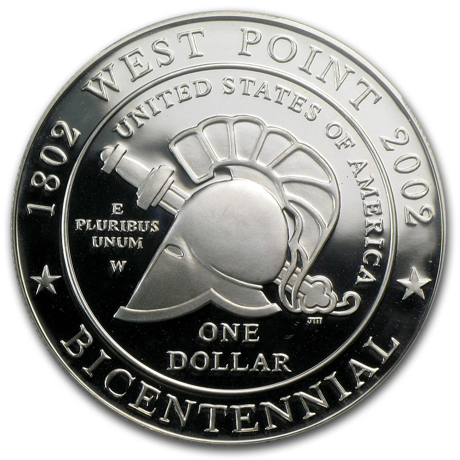 2002-W West Point Bicentennial $1 Silver Commem PR-70 DCAM PCGS