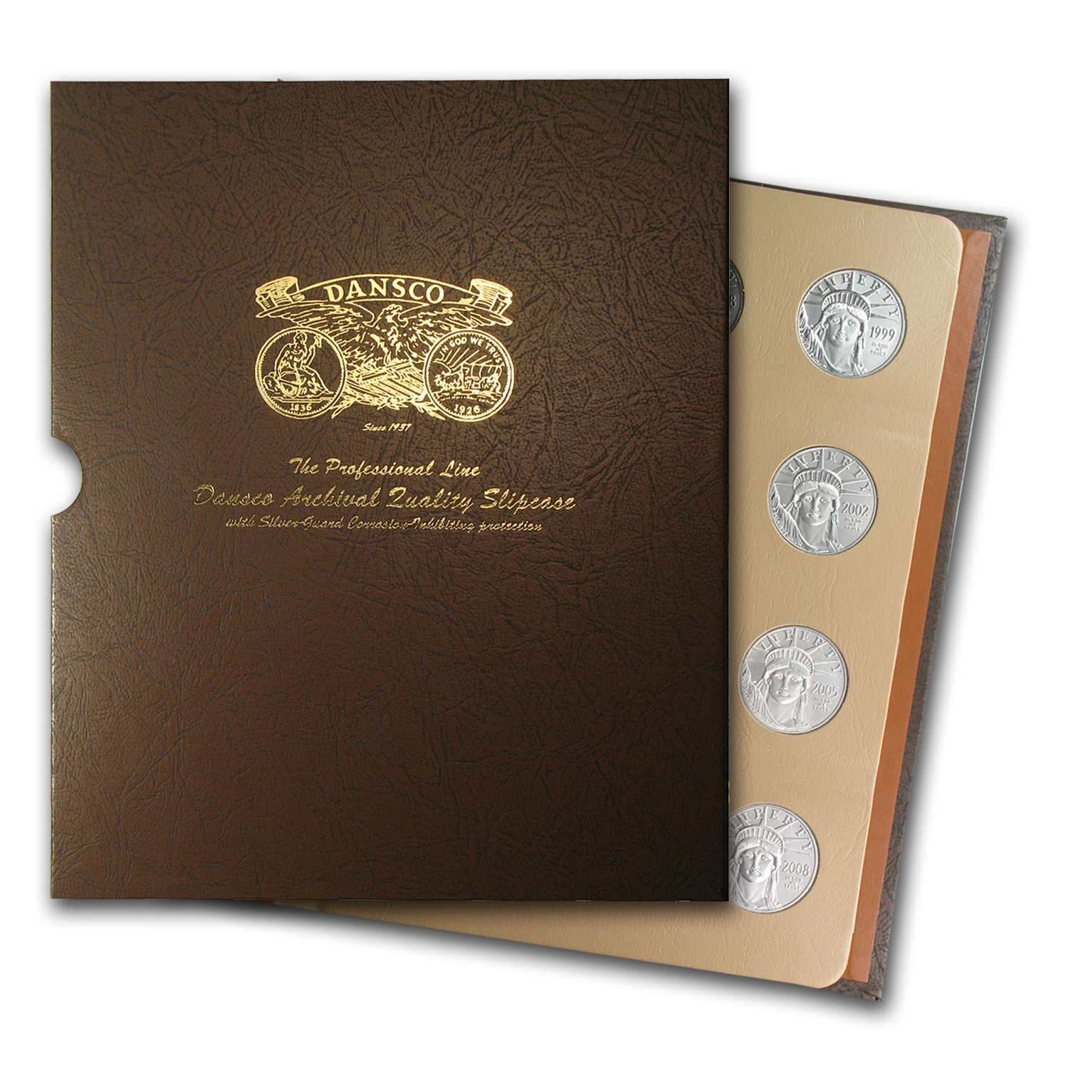 1997-2008 12-Coin 1 oz Platinum Eagle Set BU (Dansco Album)
