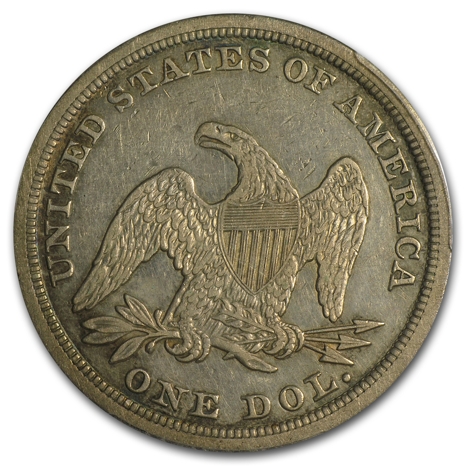 1853 Liberty Seated Dollar Extra Fine-40 PCGS