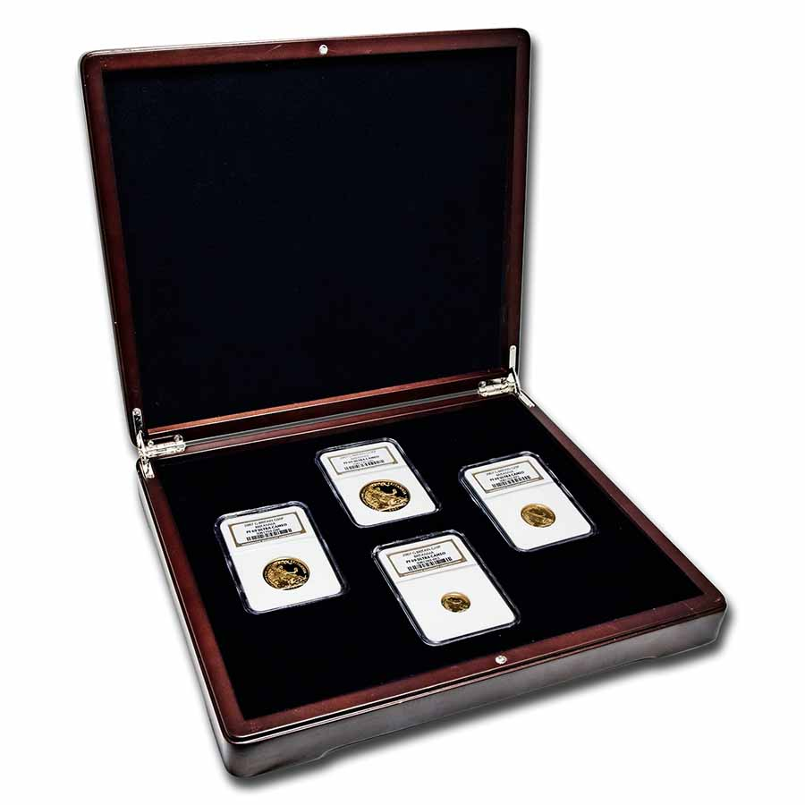 2007 4-Coin Gold Britannia Proof Set PF-69 NGC