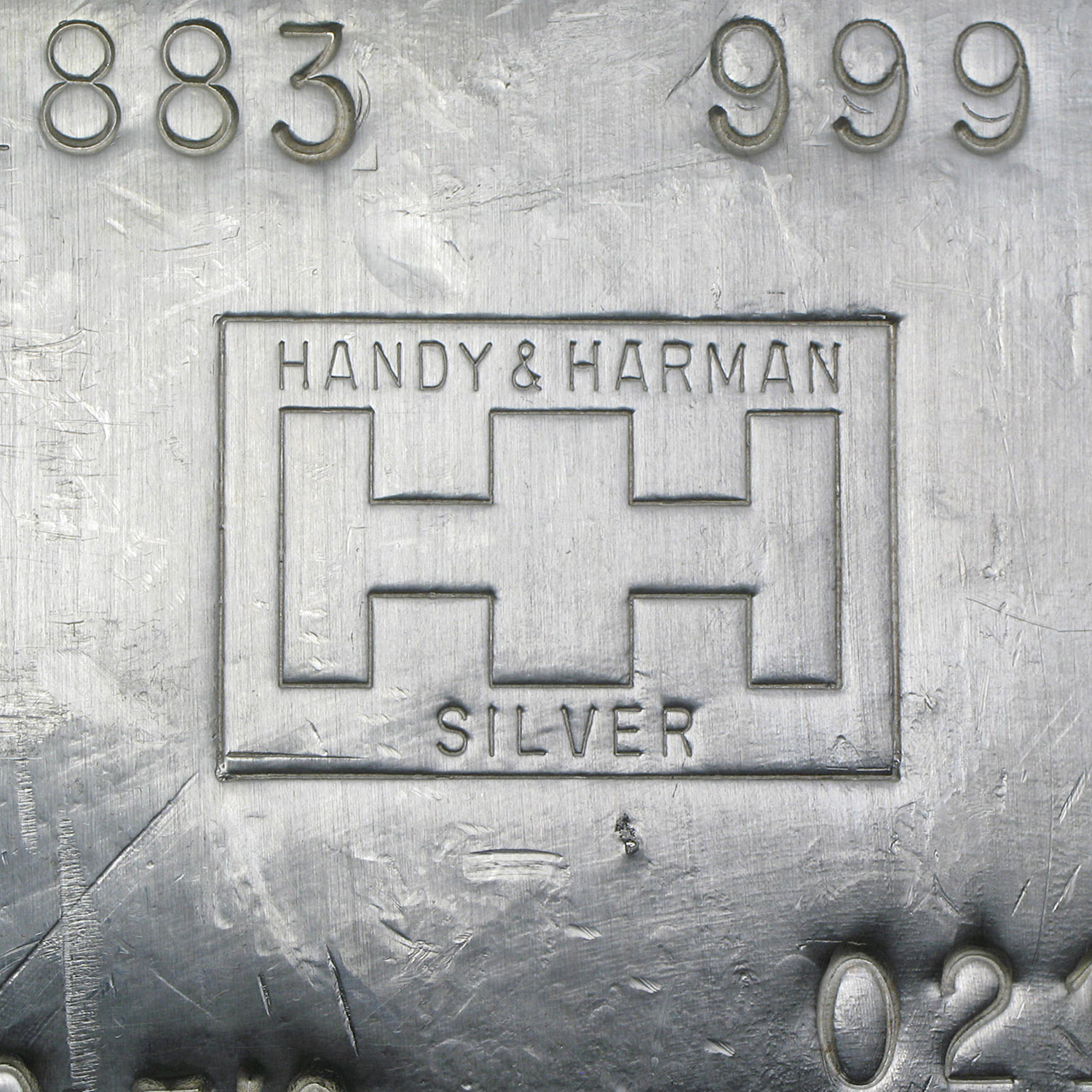 100 oz Silver Bar - Handy & Harmon