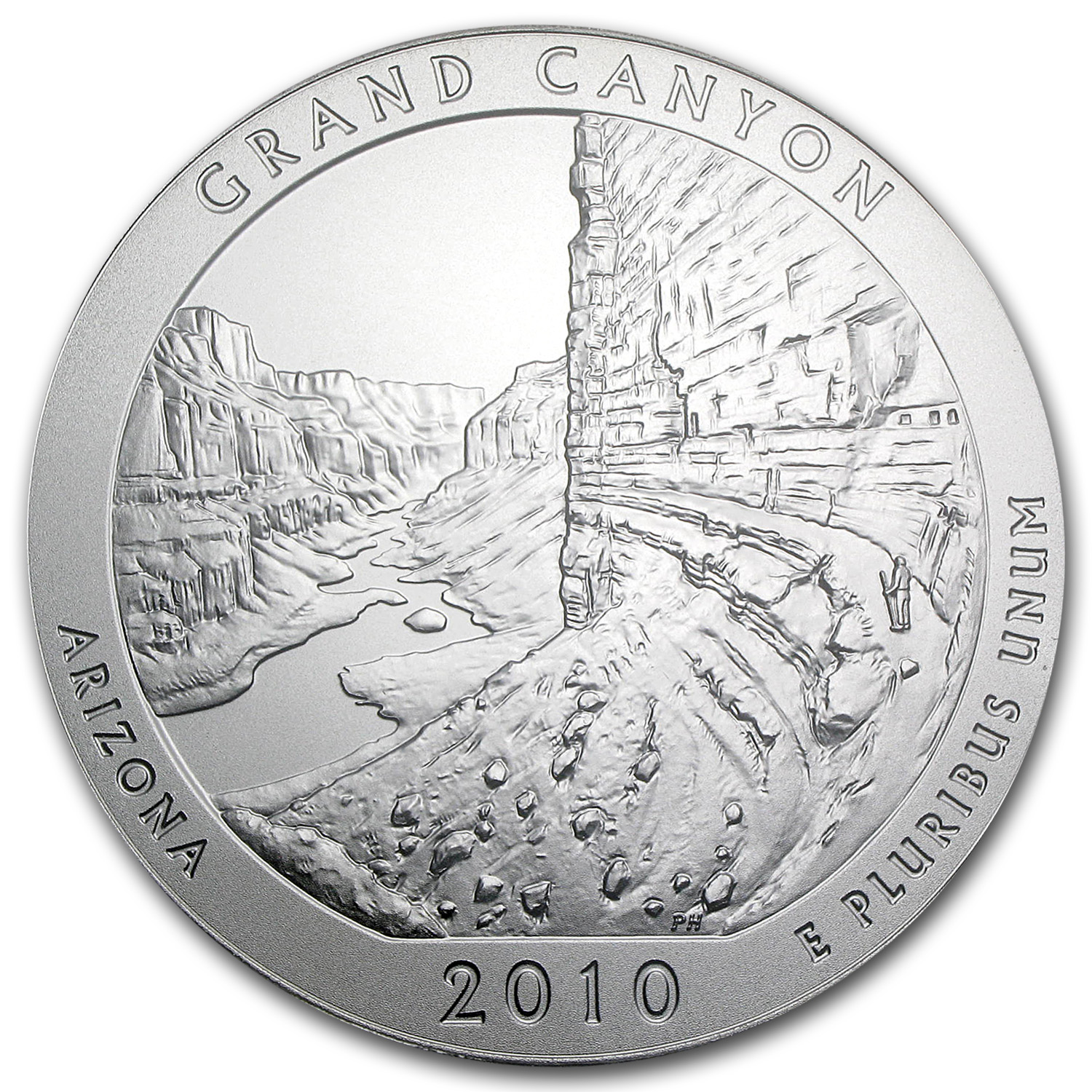 2010-P 5 oz Silver ATB Grand Canyon SP-69 PCGS (FS, Mercanti)