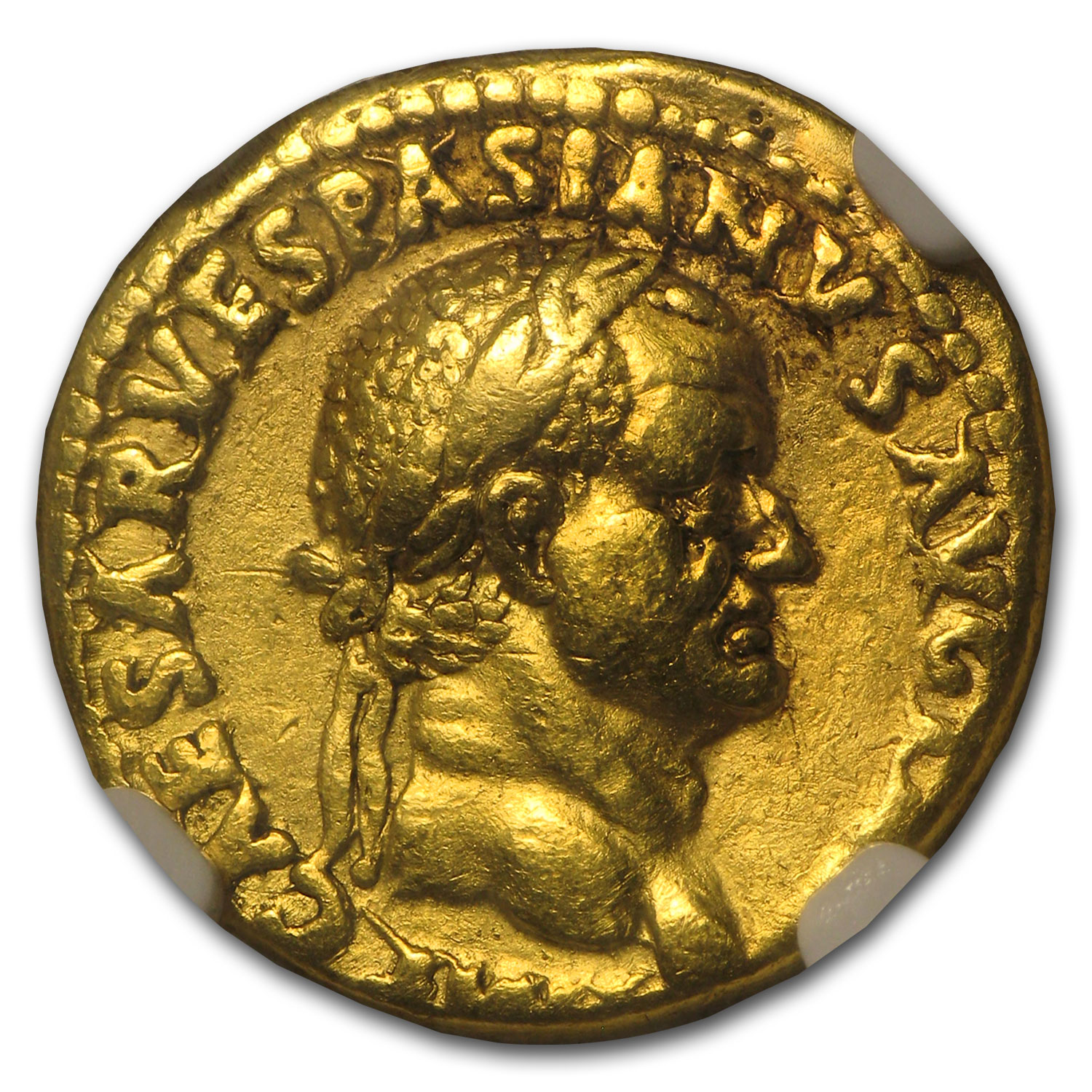Roman Gold Aureus of Vespasian (69-79 AD) ChVF VF