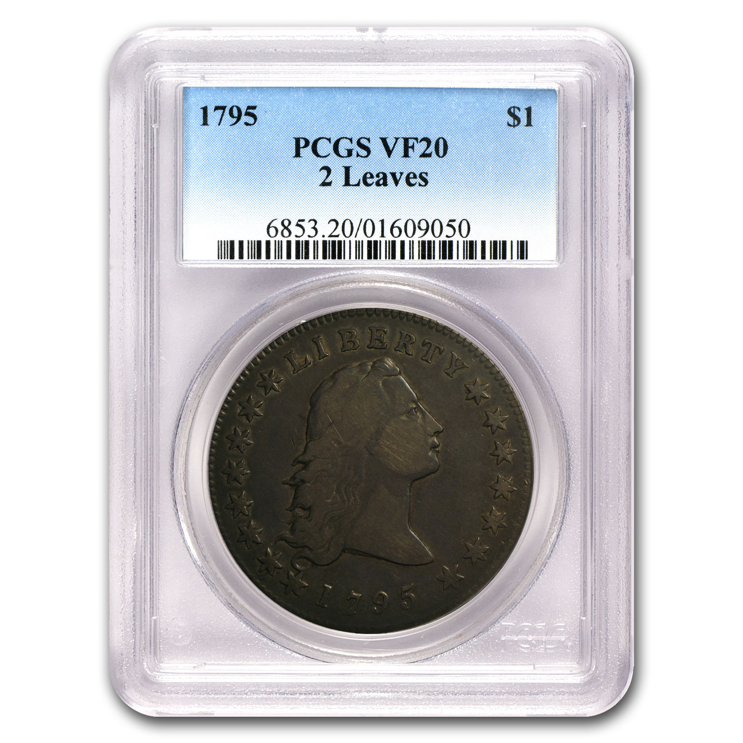 1795 Flowing Hair Dollar VF-20 PCGS (2 Leaves)
