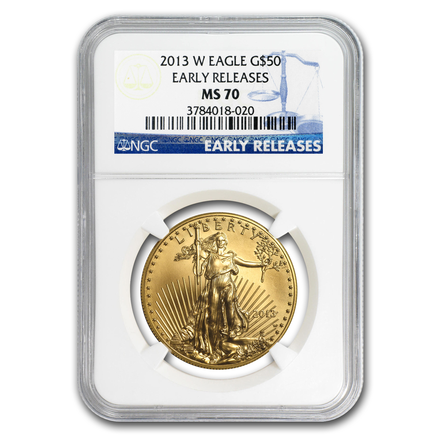 2013-W 1 oz Burnished Gold Eagle MS-70 NGC (ER)
