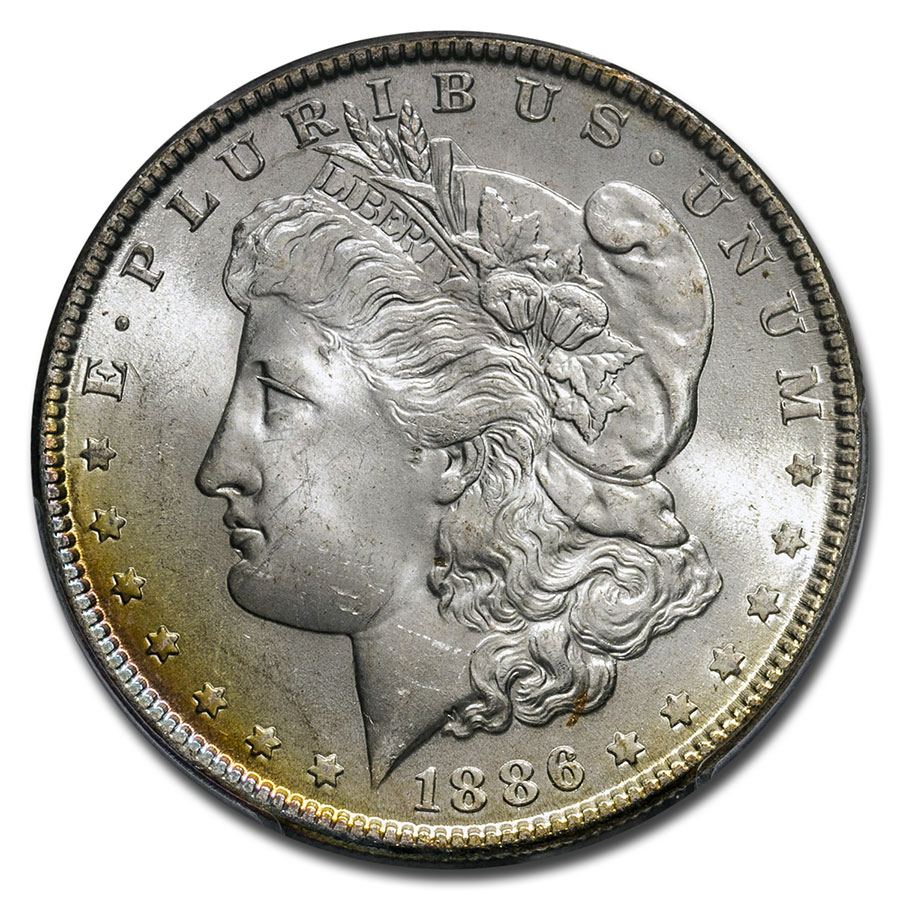 1878-1904 Morgan Dollars - MS-65 PCGS (Beautifully Toned)