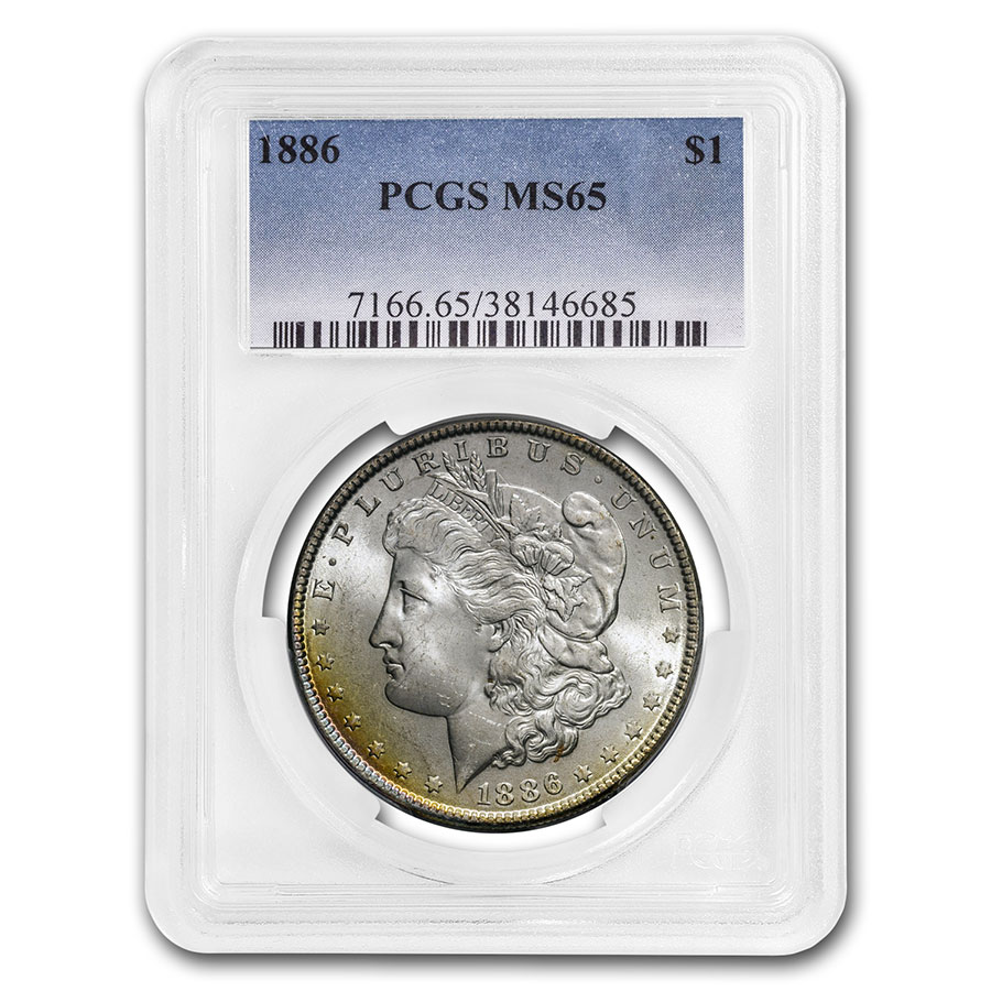 1878-1904 Morgan Dollars MS-65 PCGS (Beautifully Toned)