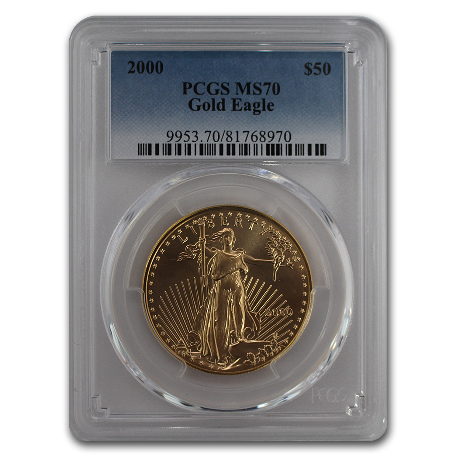 2000 1 oz Gold American Eagle MS-70 PCGS (Registry Coin)