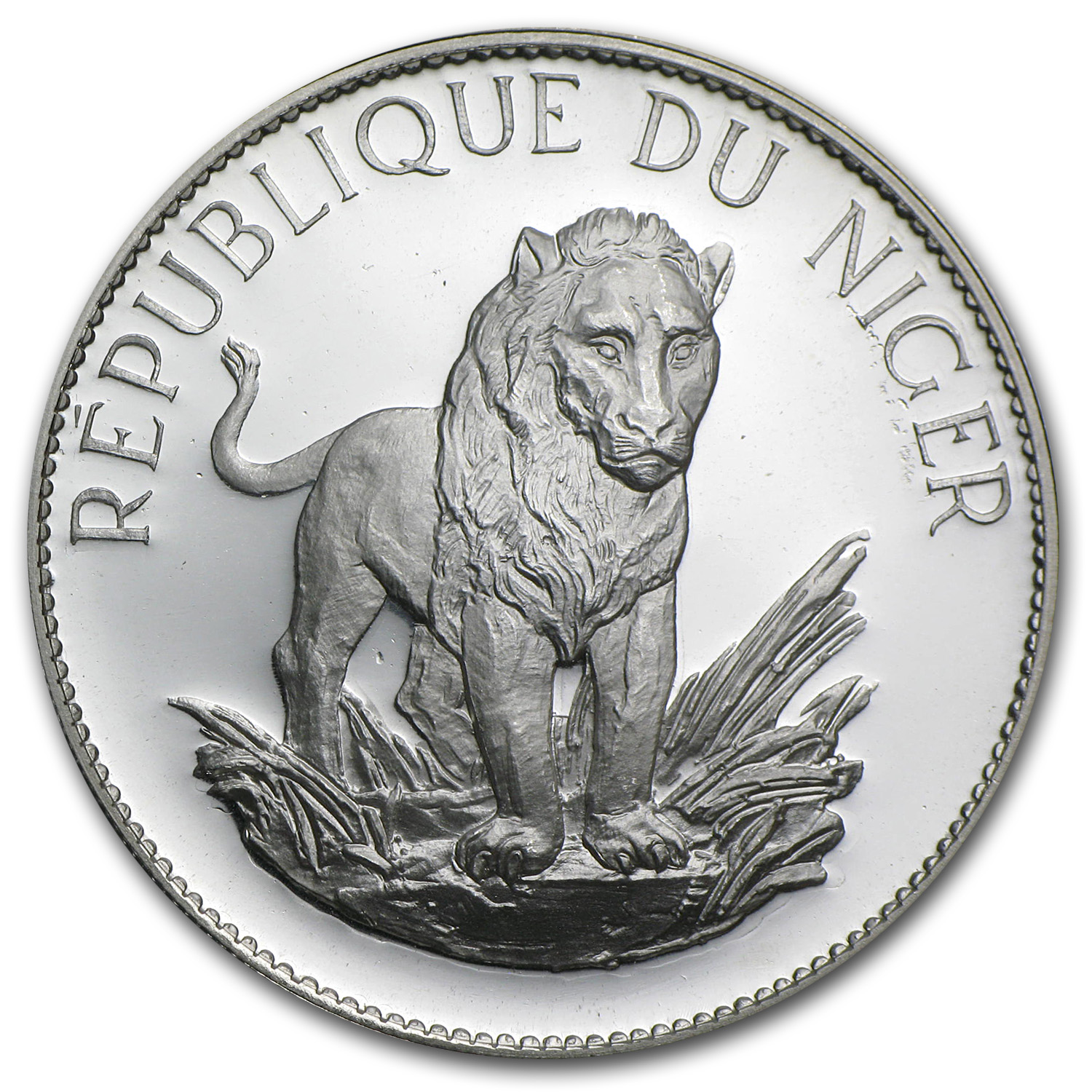 Niger 1968 Silver Proof 10 Francs Lion