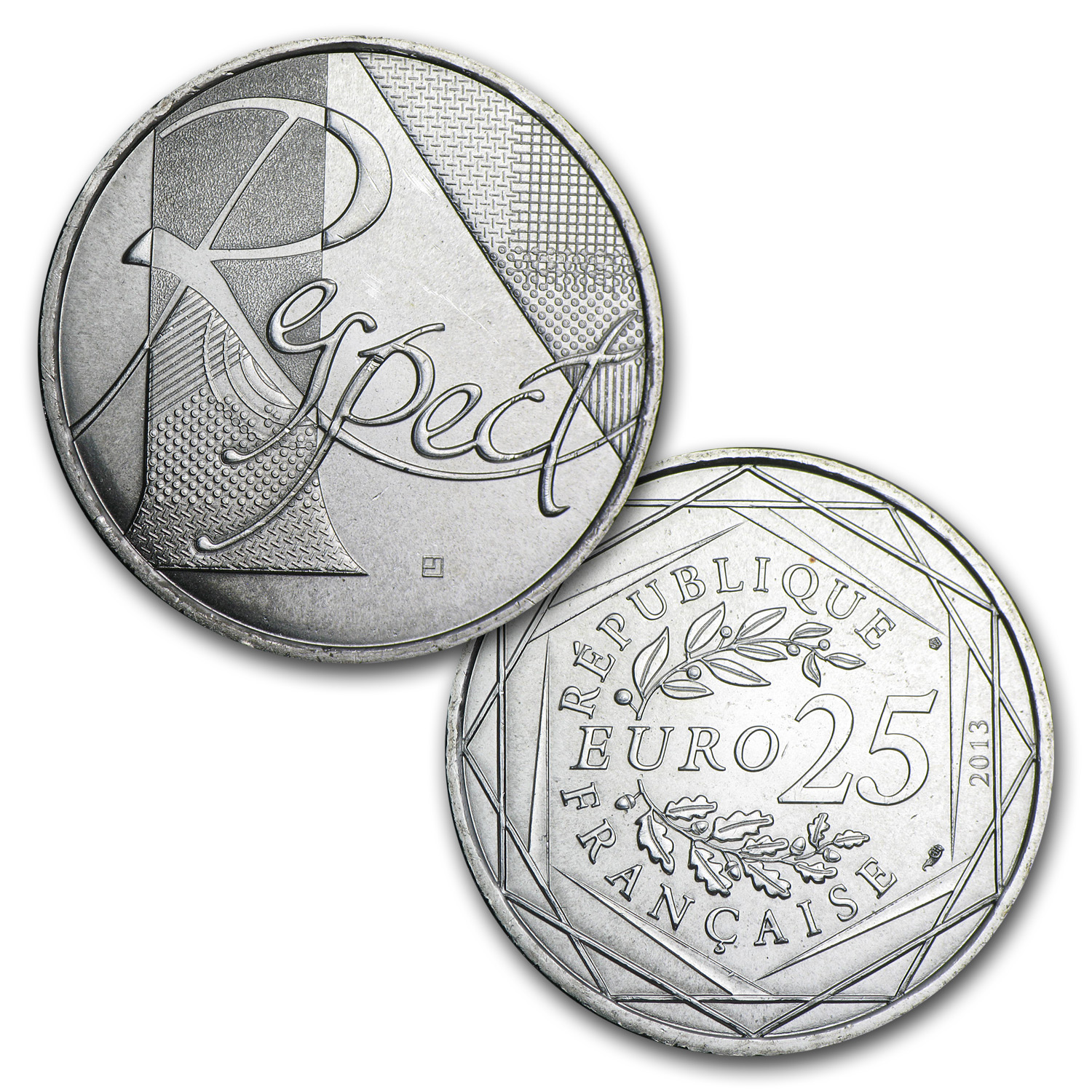 2013 France Euro Values of the Republic (7 Face Value Coins)