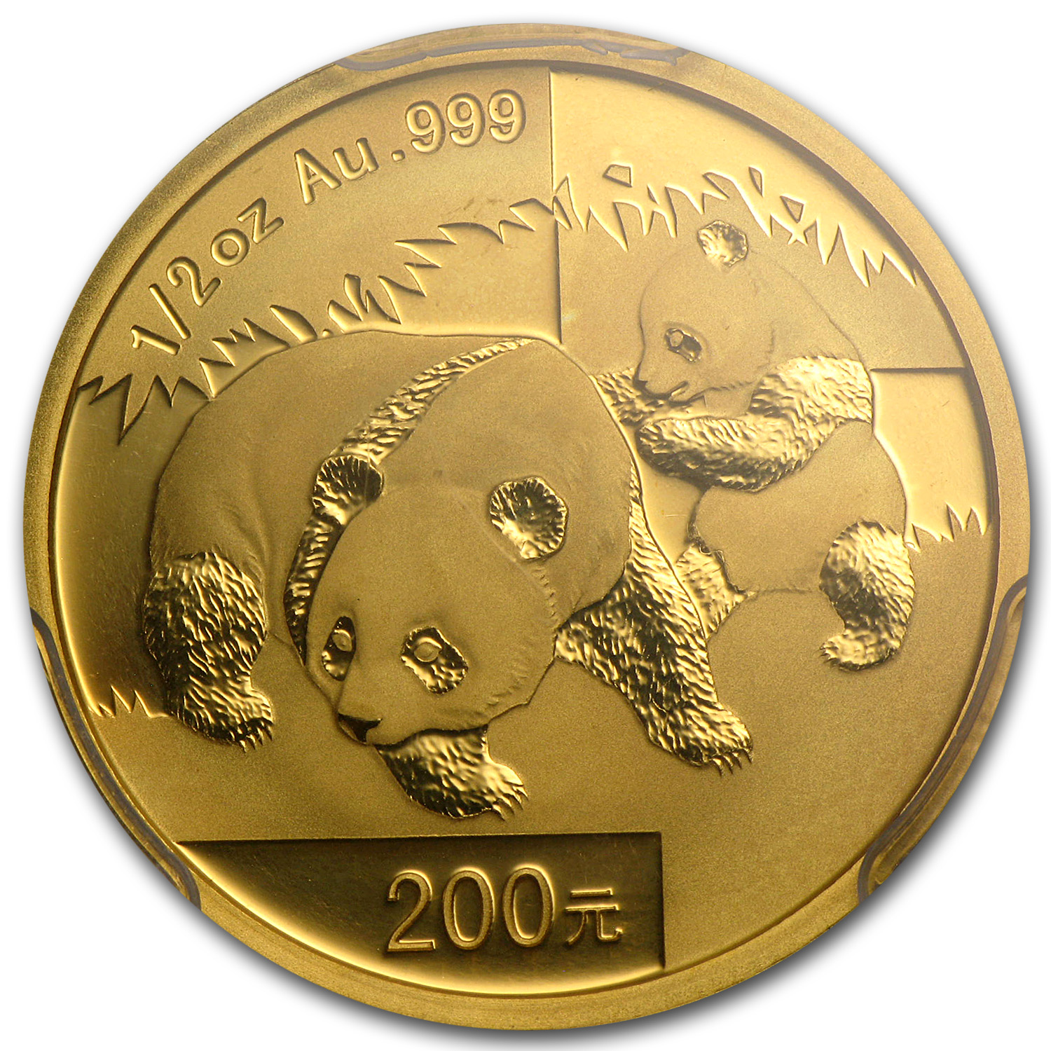 2008 (1/2 oz) Gold Chinese Panda MS-69 PCGS