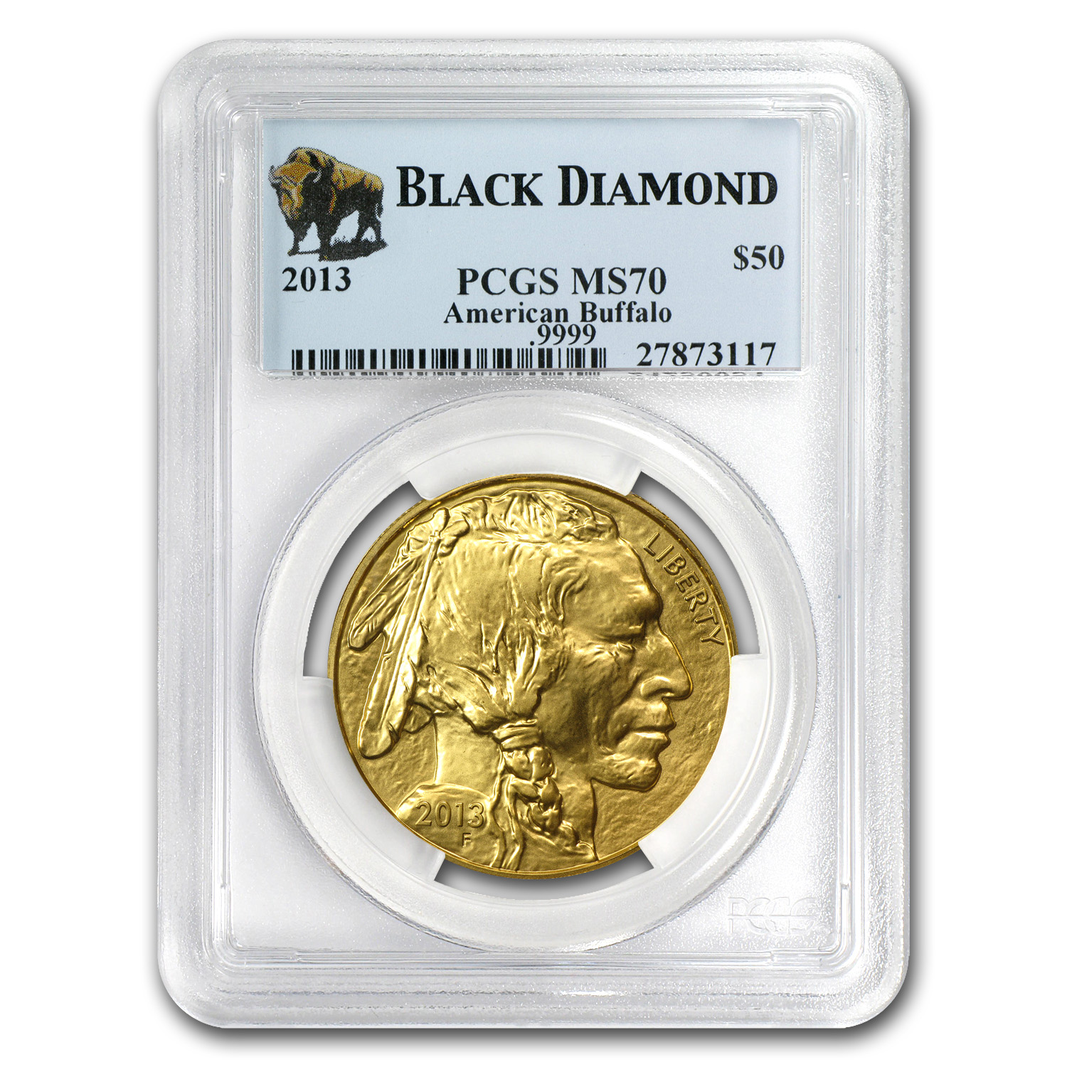 2013 1 oz Gold Buffalo MS-70 PCGS (Black Diamond)