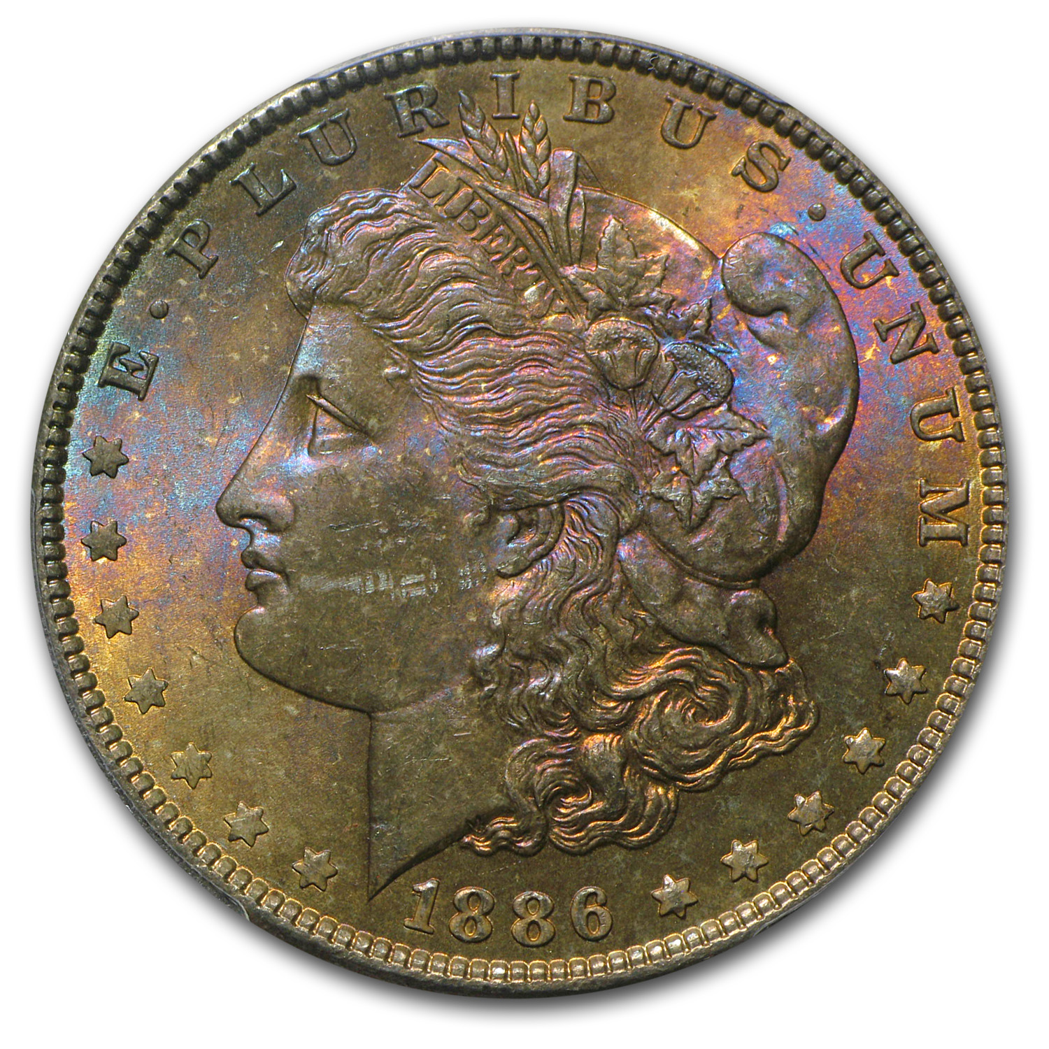 1878-1904 Morgan Dollars MS-63 PCGS (Beautifully Toned)
