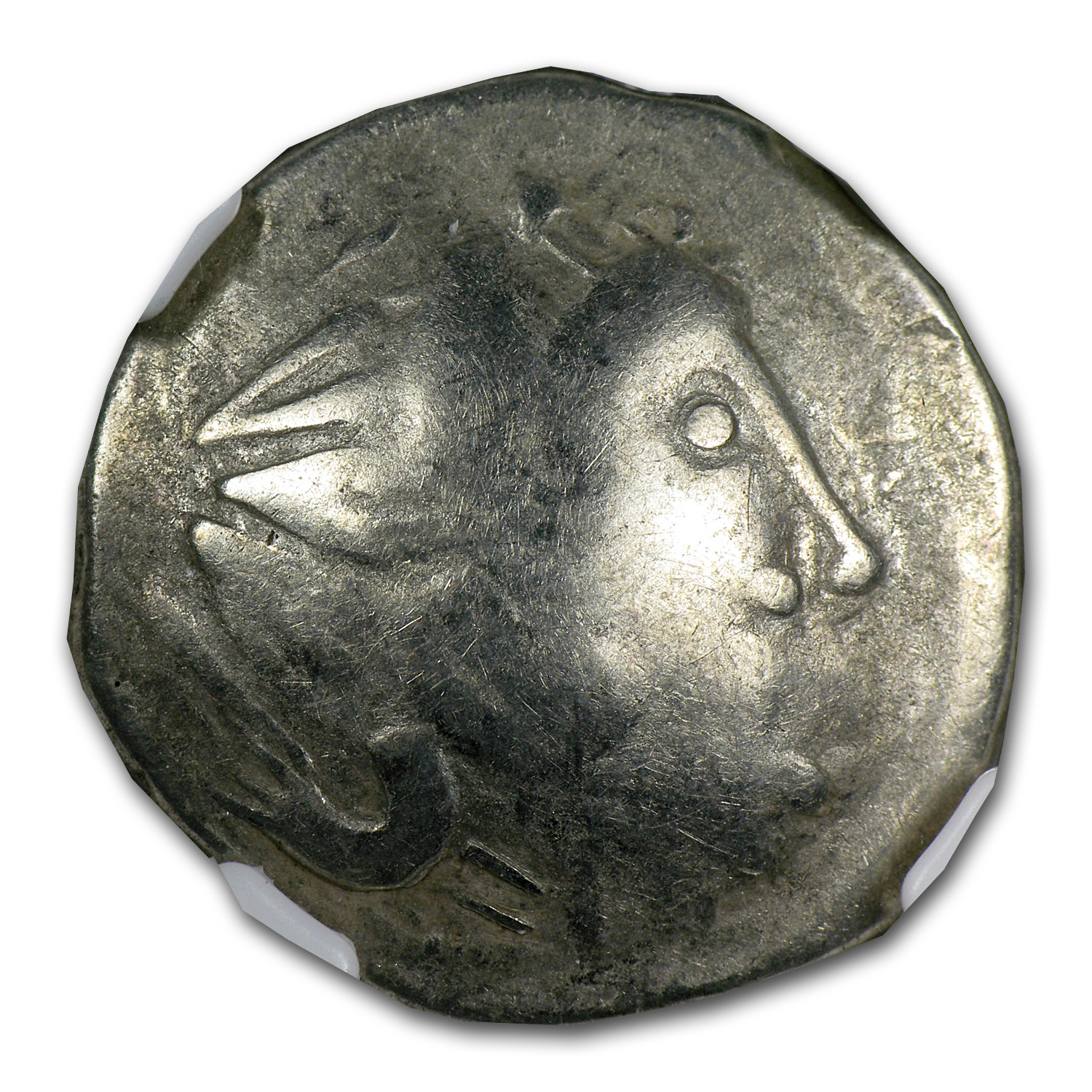 Celts Lower Danube Tetradrachm VG NGC (3rd Century BC)