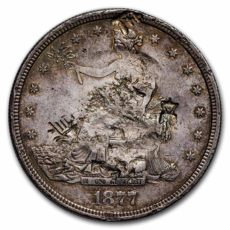 1877-S Trade Dollar - Very Fine - Chopmarks