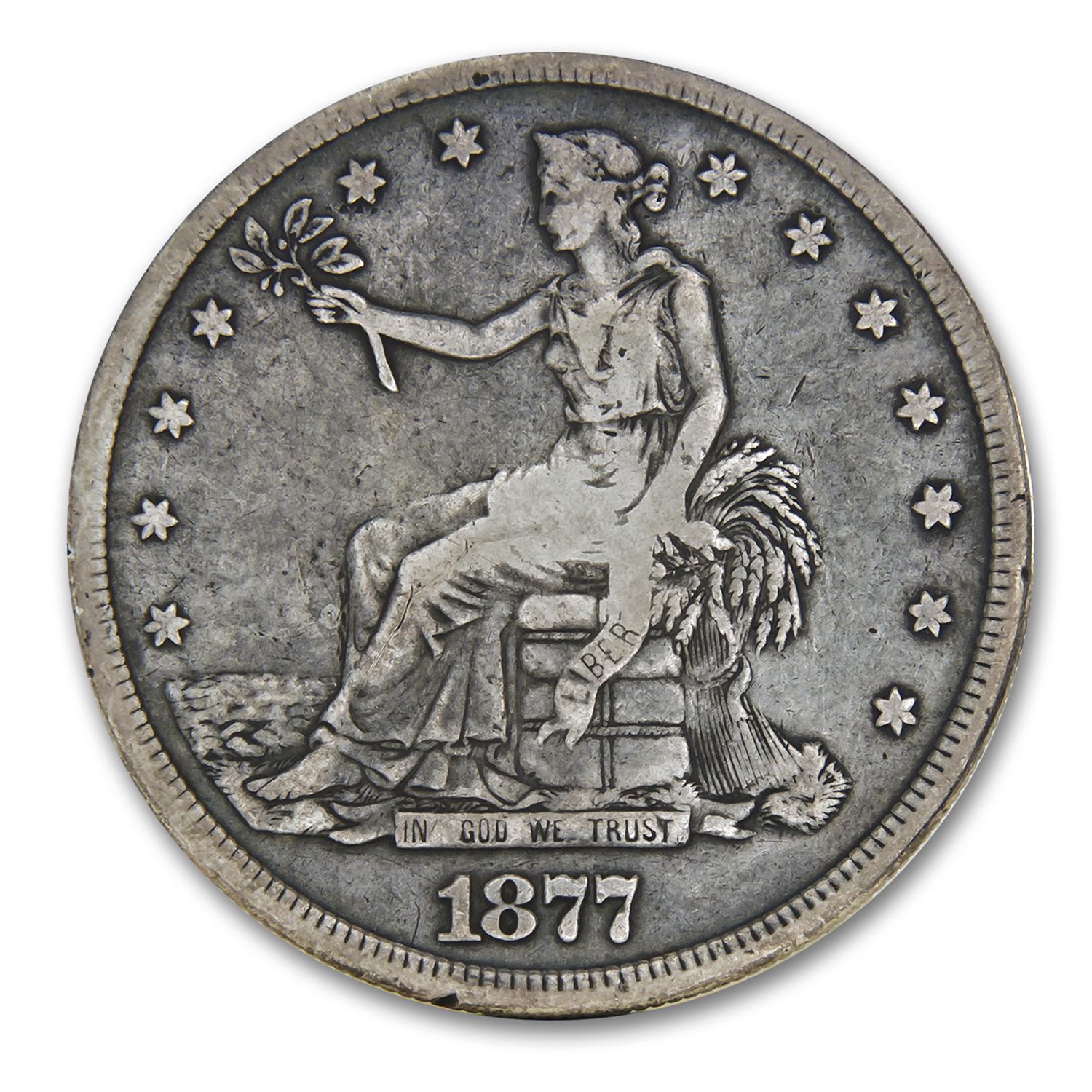 1877-S Trade Dollar VF (Chopmarks)