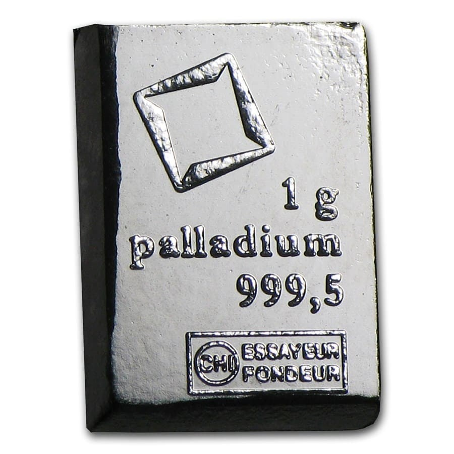 1 Gram Palladium Bullion Bar One Gram Of Palladium