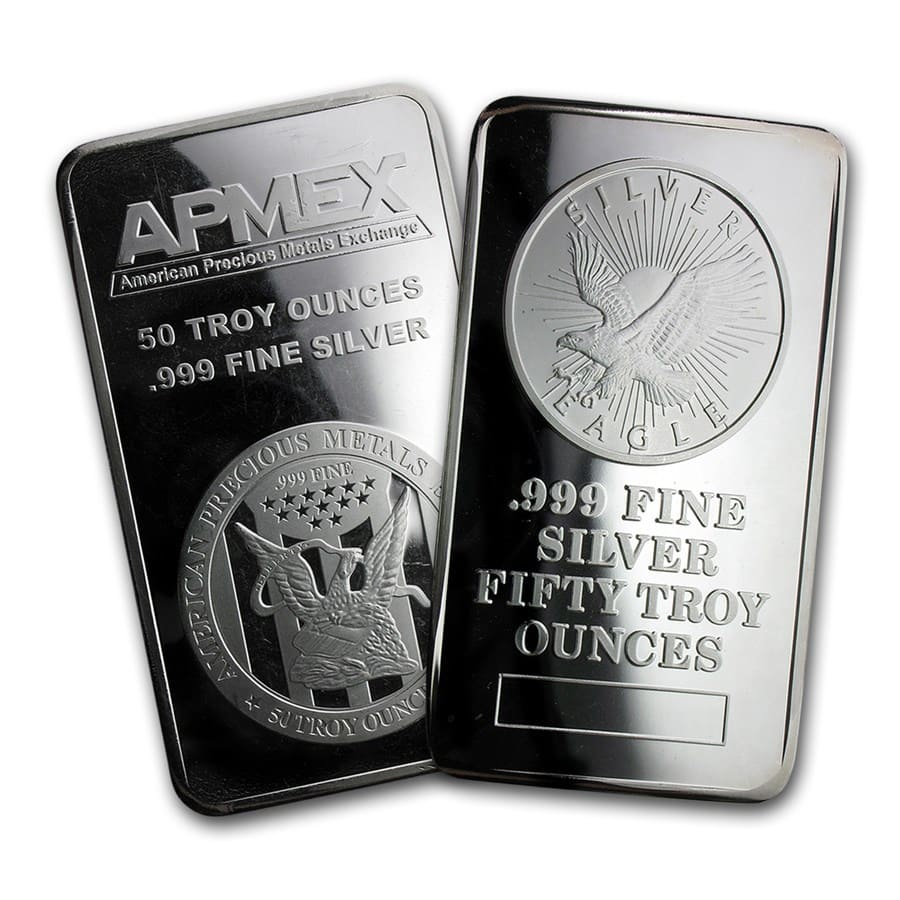 50 oz Silver Bar - Secondary Market
