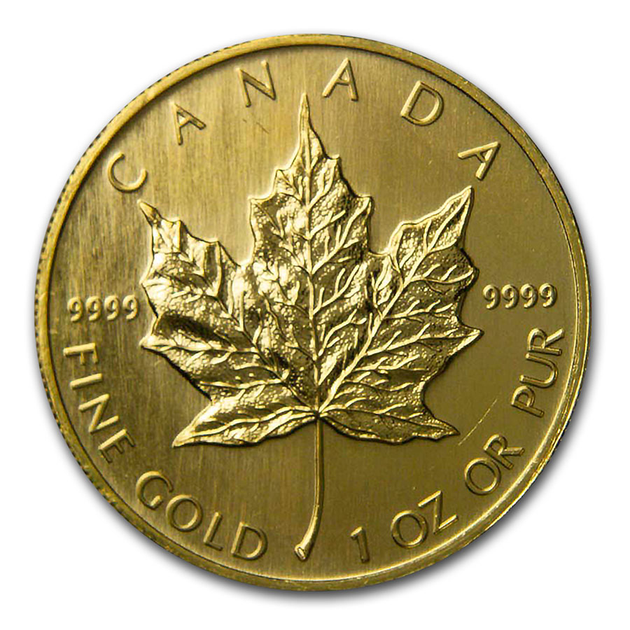 1997 1 oz Gold Canadian Maple Leaf BU