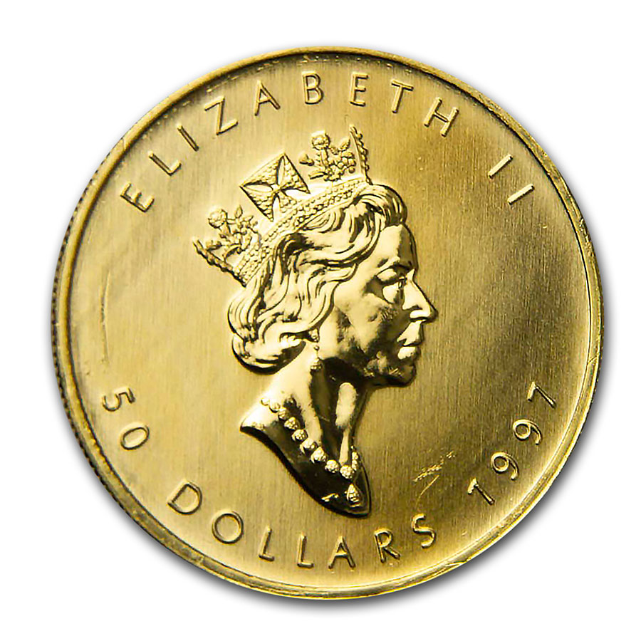 1997 1 oz Gold Canadian Maple Leaf - Brilliant Uncirculated