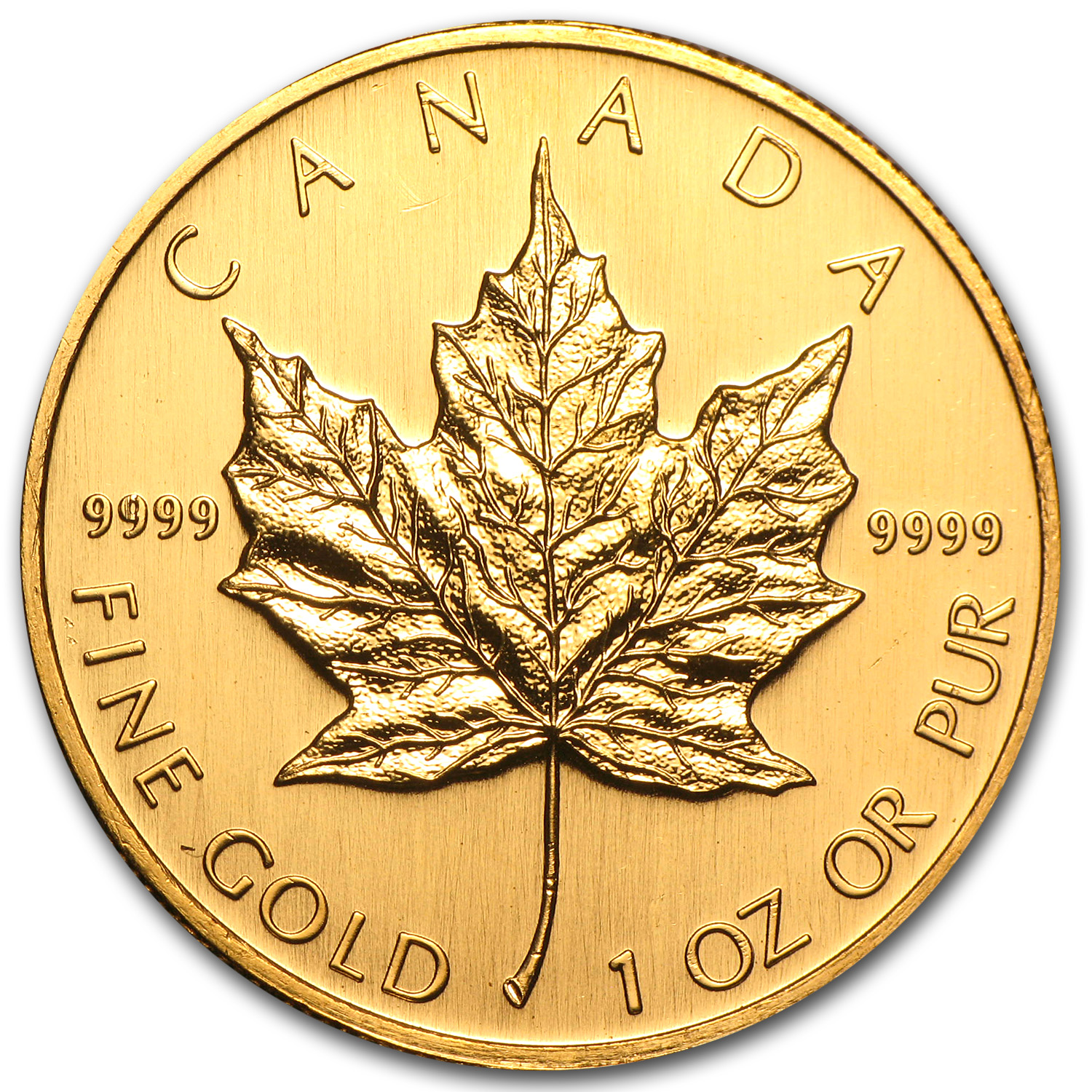 2002 1 oz Gold Canadian Maple Leaf - Brilliant Uncirculated