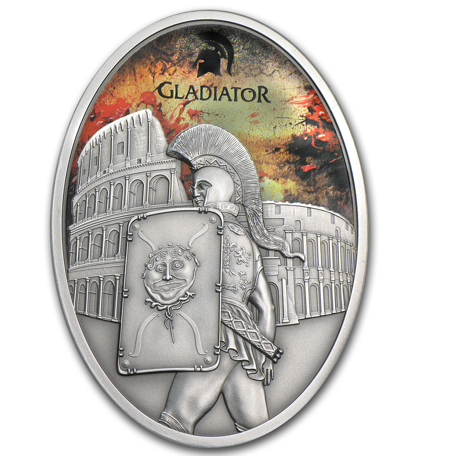2013 Fiji 1 oz Silver $10 Gladiator Roman Empire Provocator