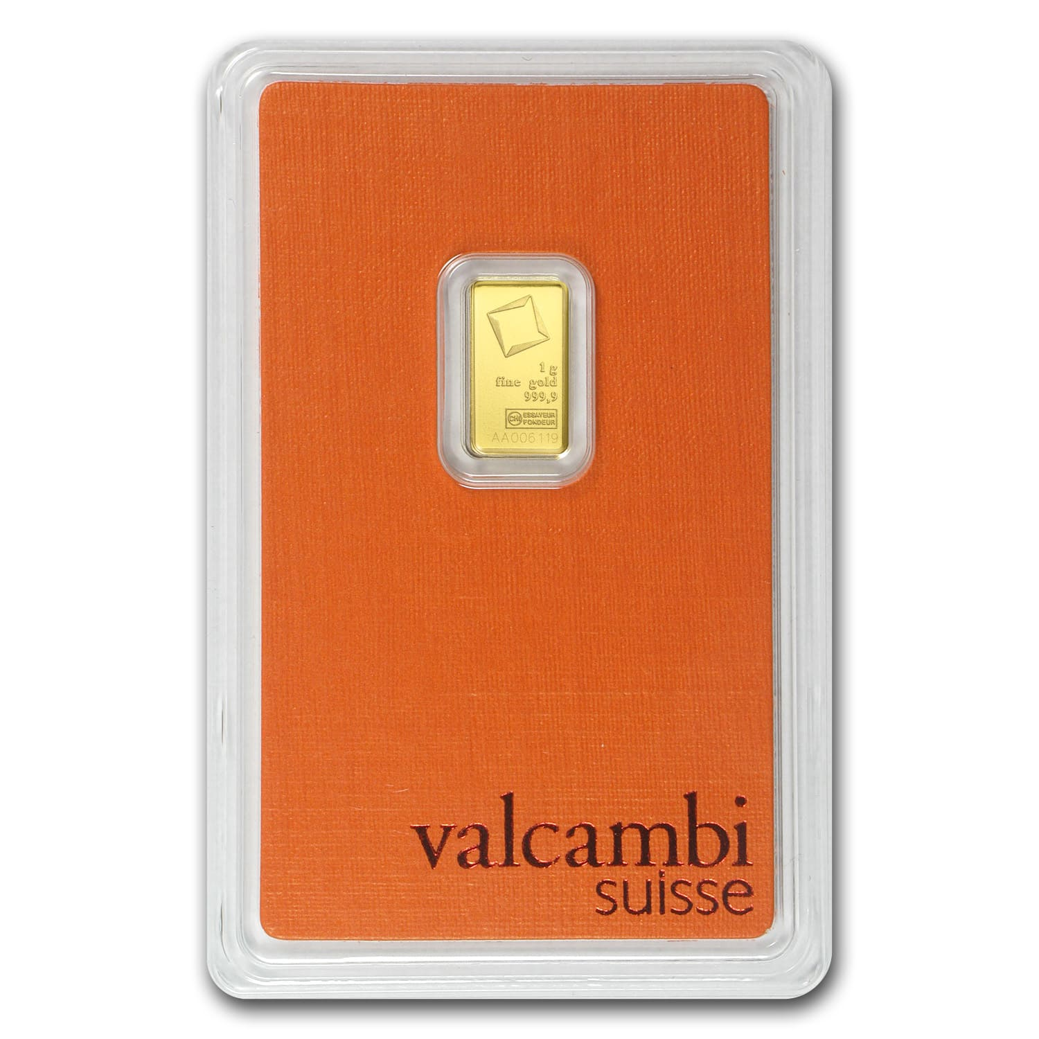 1 gram Gold Bars - Valcambi (In Assay)