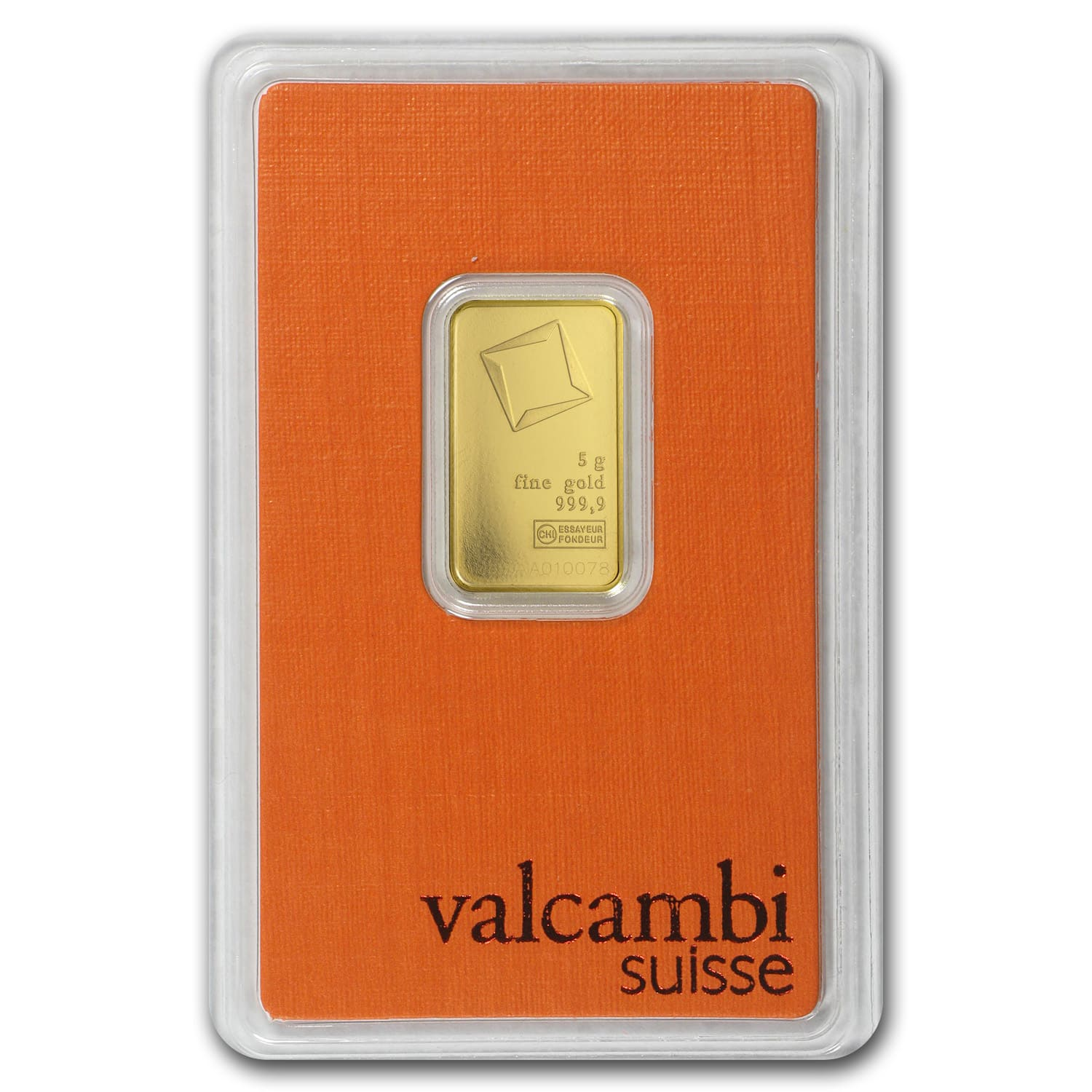 5 gram Gold Bar - Valcambi (In Assay)