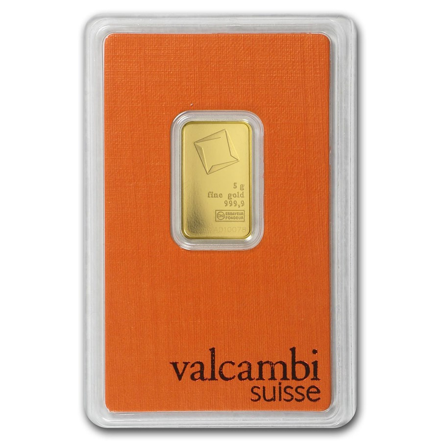 5 Gram Gold Bar Valcambi In Assay Valcambi Gold