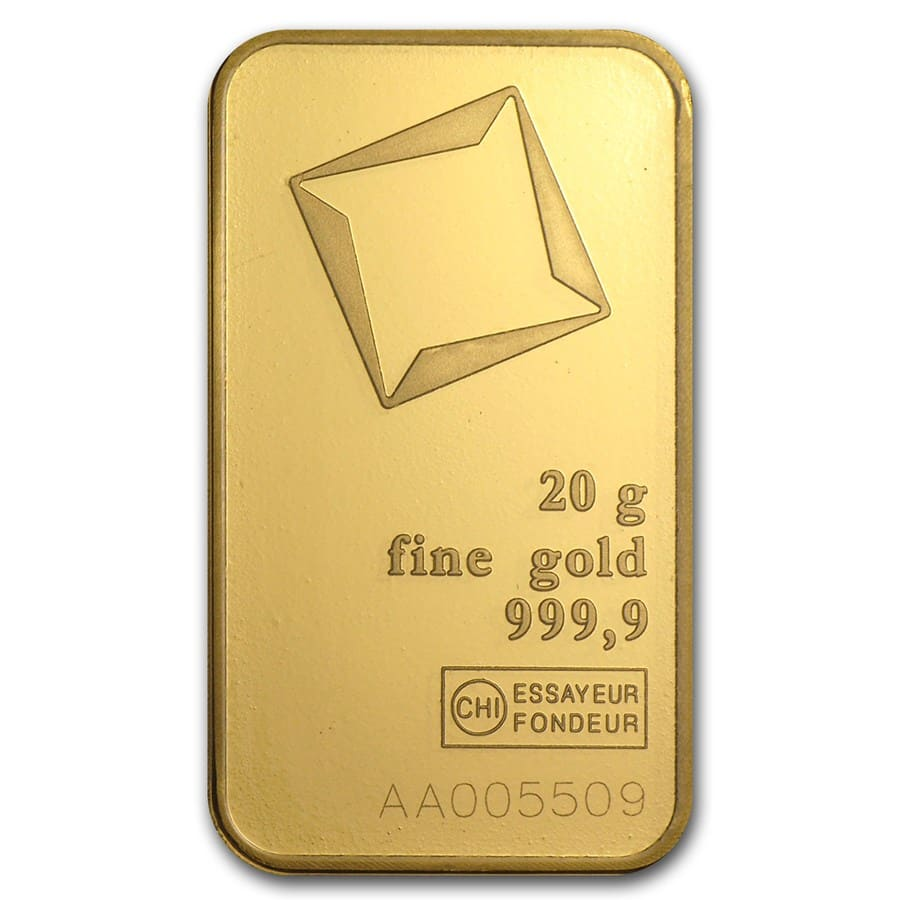 20 gram Gold Bars - Valcambi (In Assay)