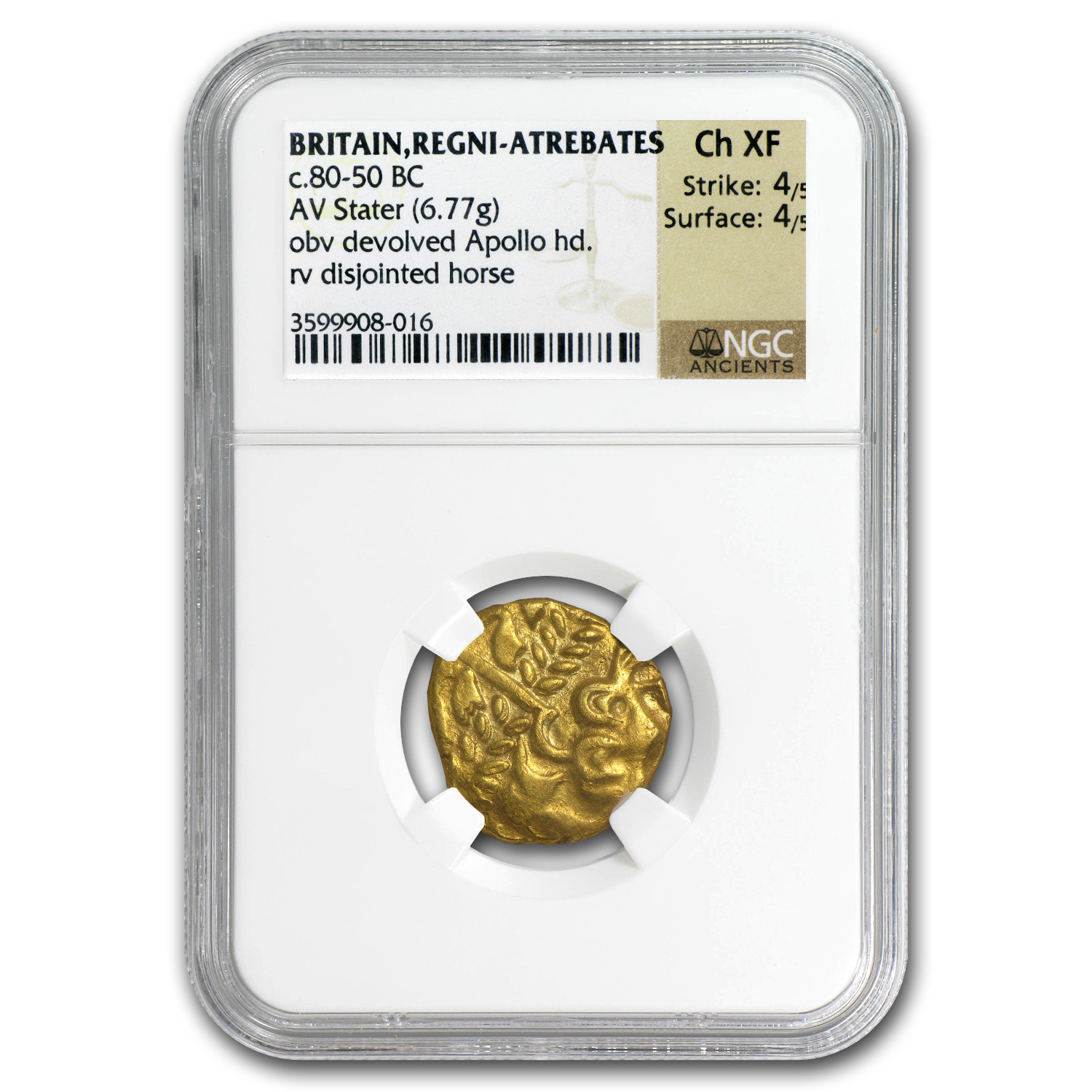 Celtic Britain Gold Stater (1st Century BC)